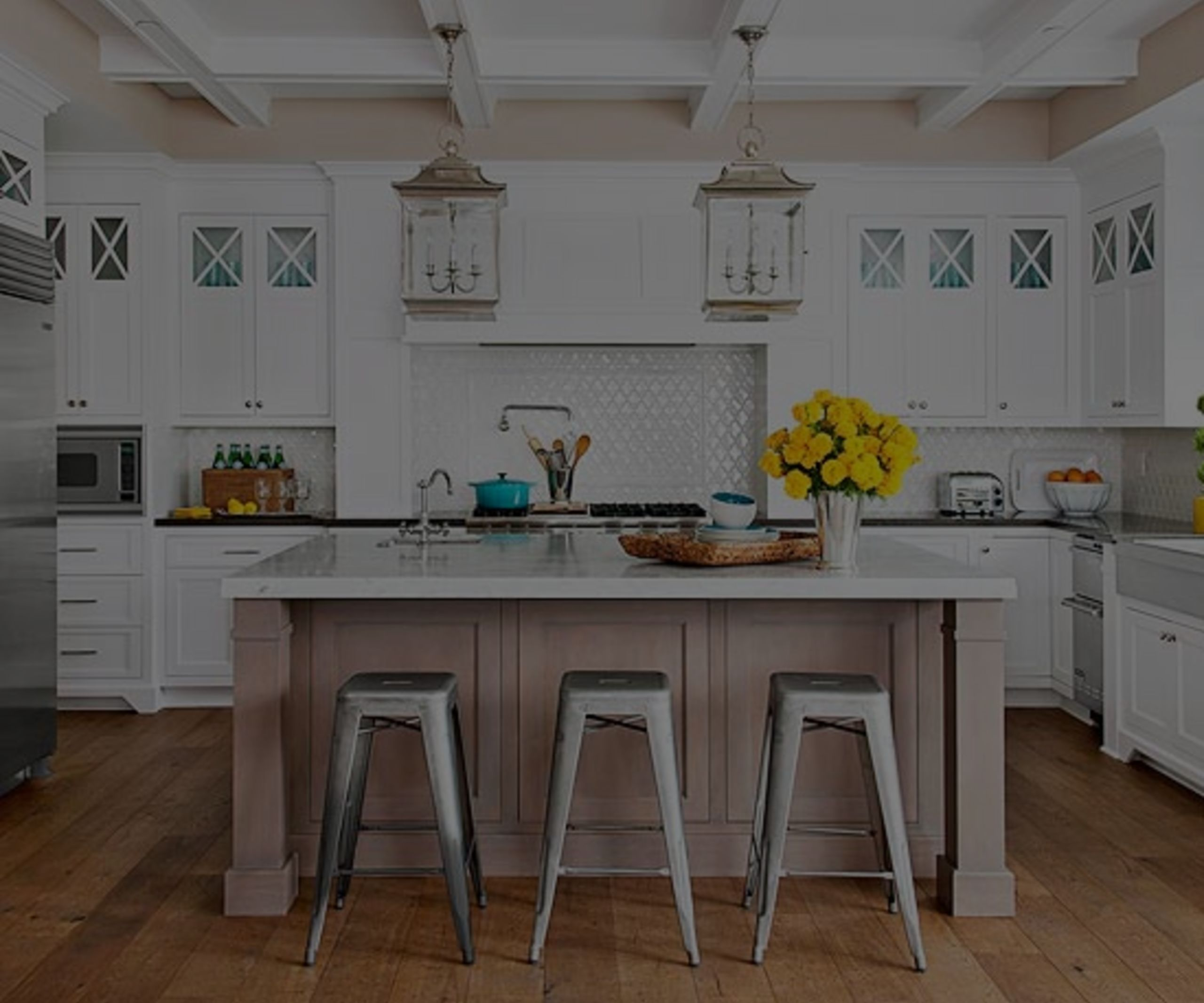 Gleaming kitchens with rustic finishes