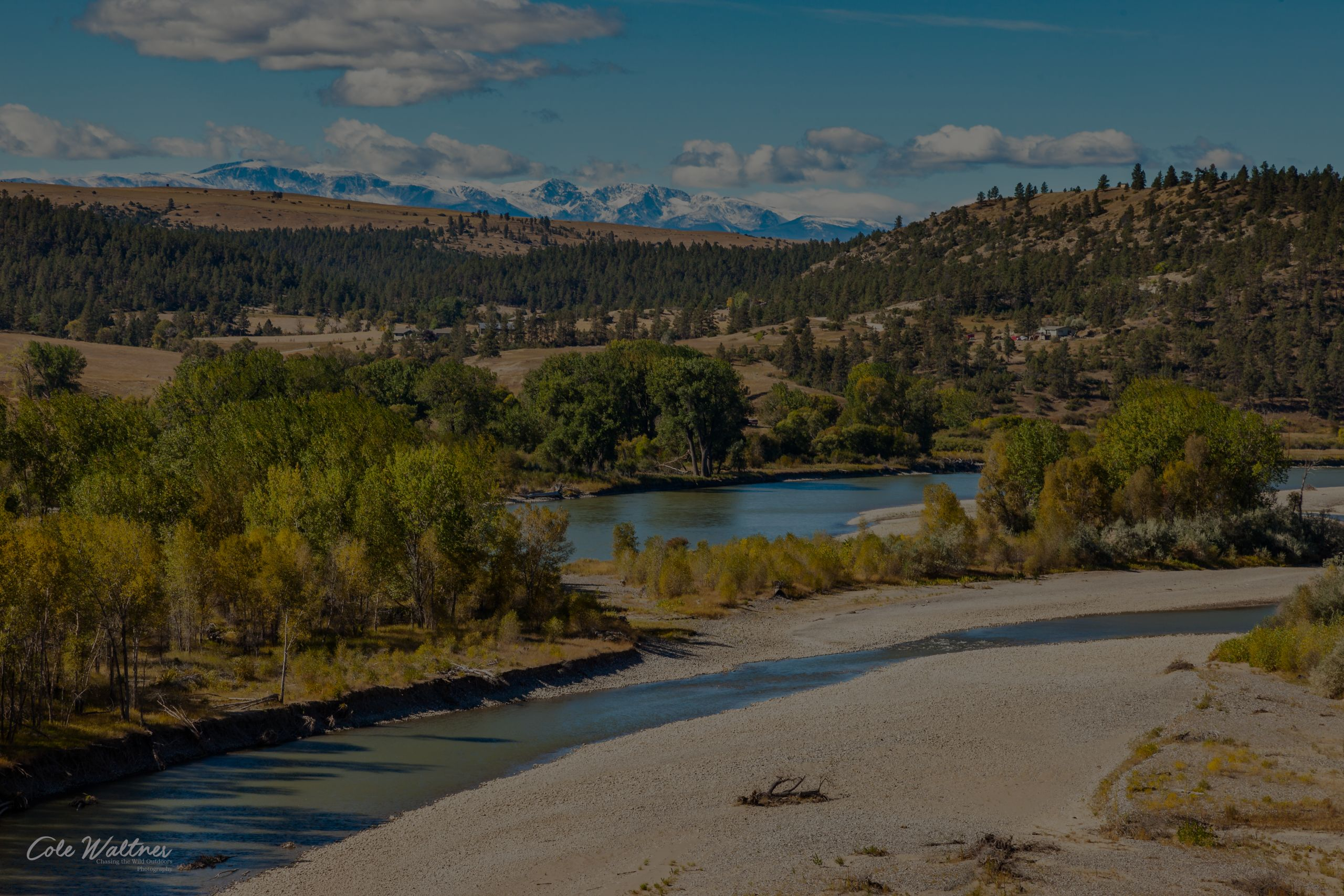 Beartooth Mountains and Yellowstone River