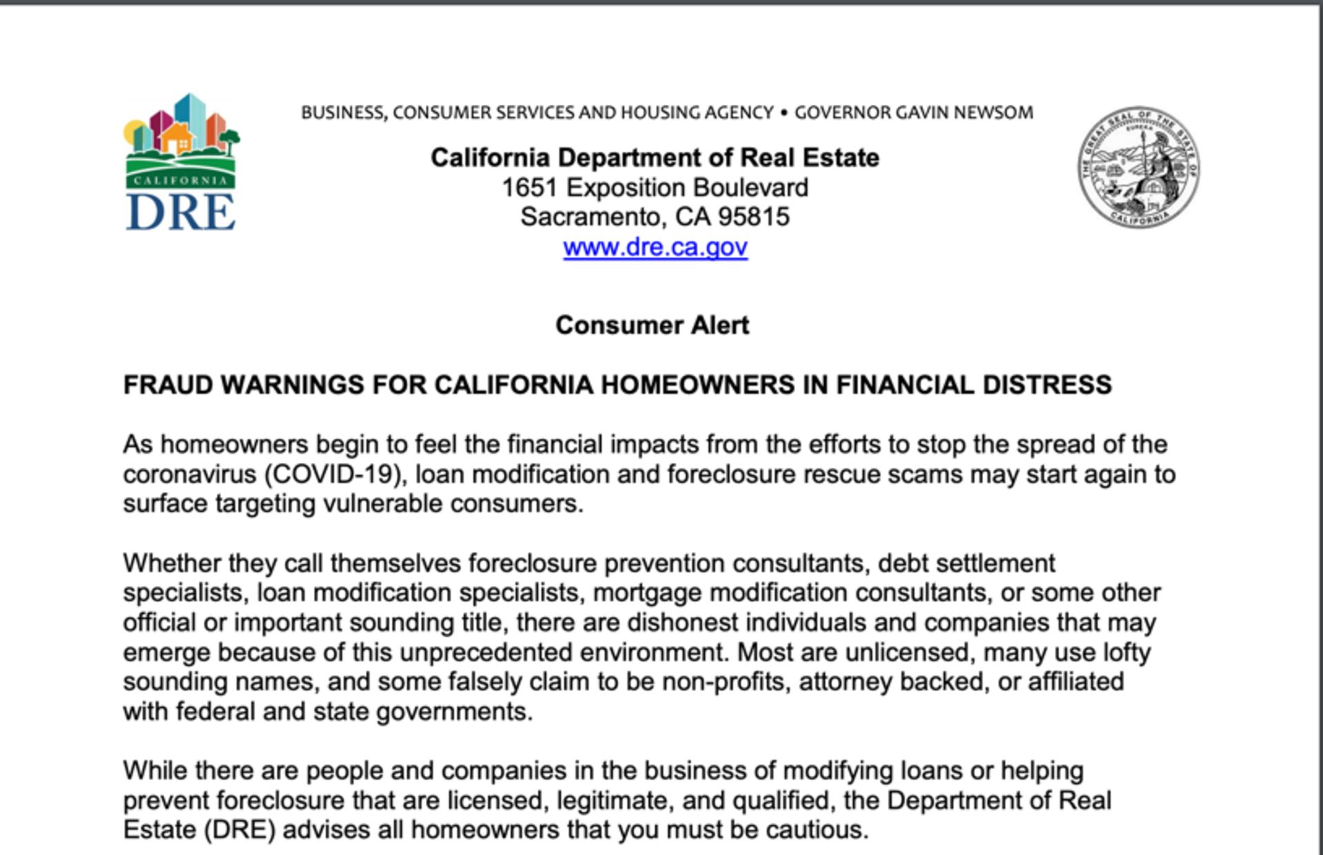 Watch out for COVID Real Estate Scammers