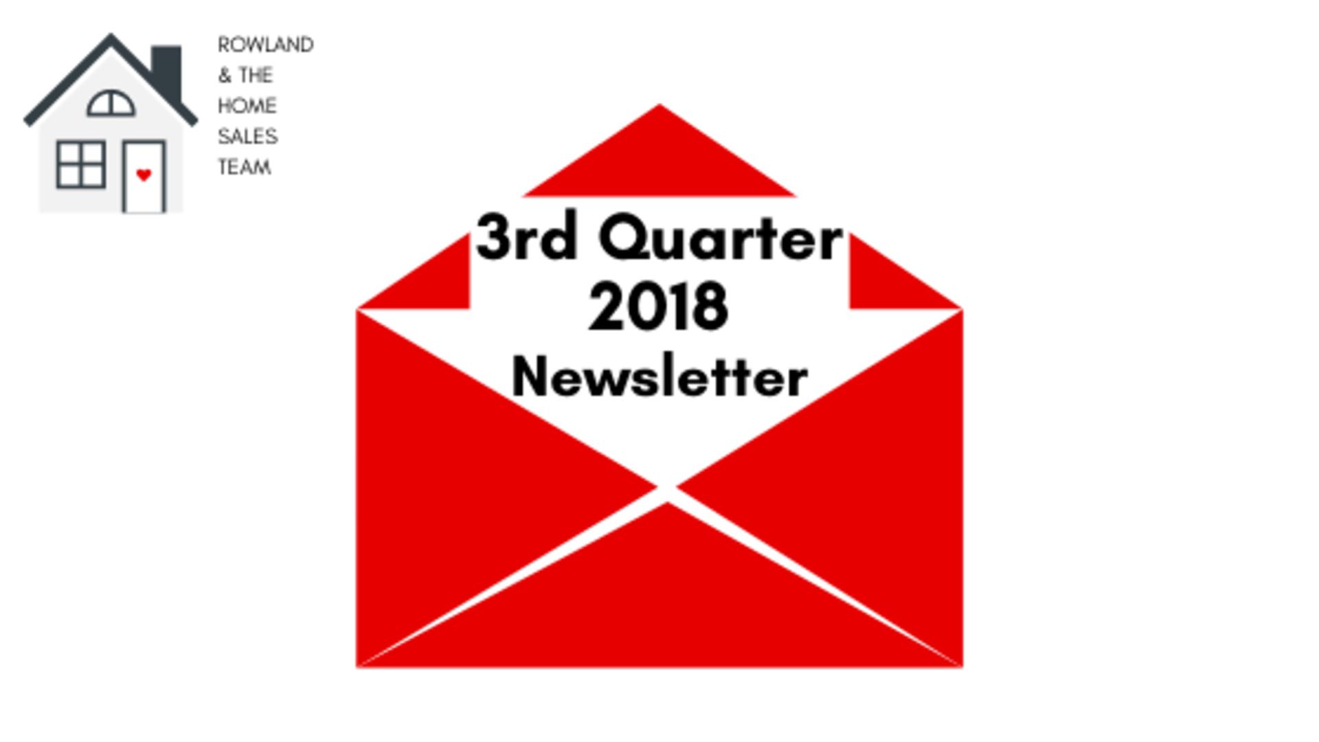 3rd Quarter 2018 Newsletter