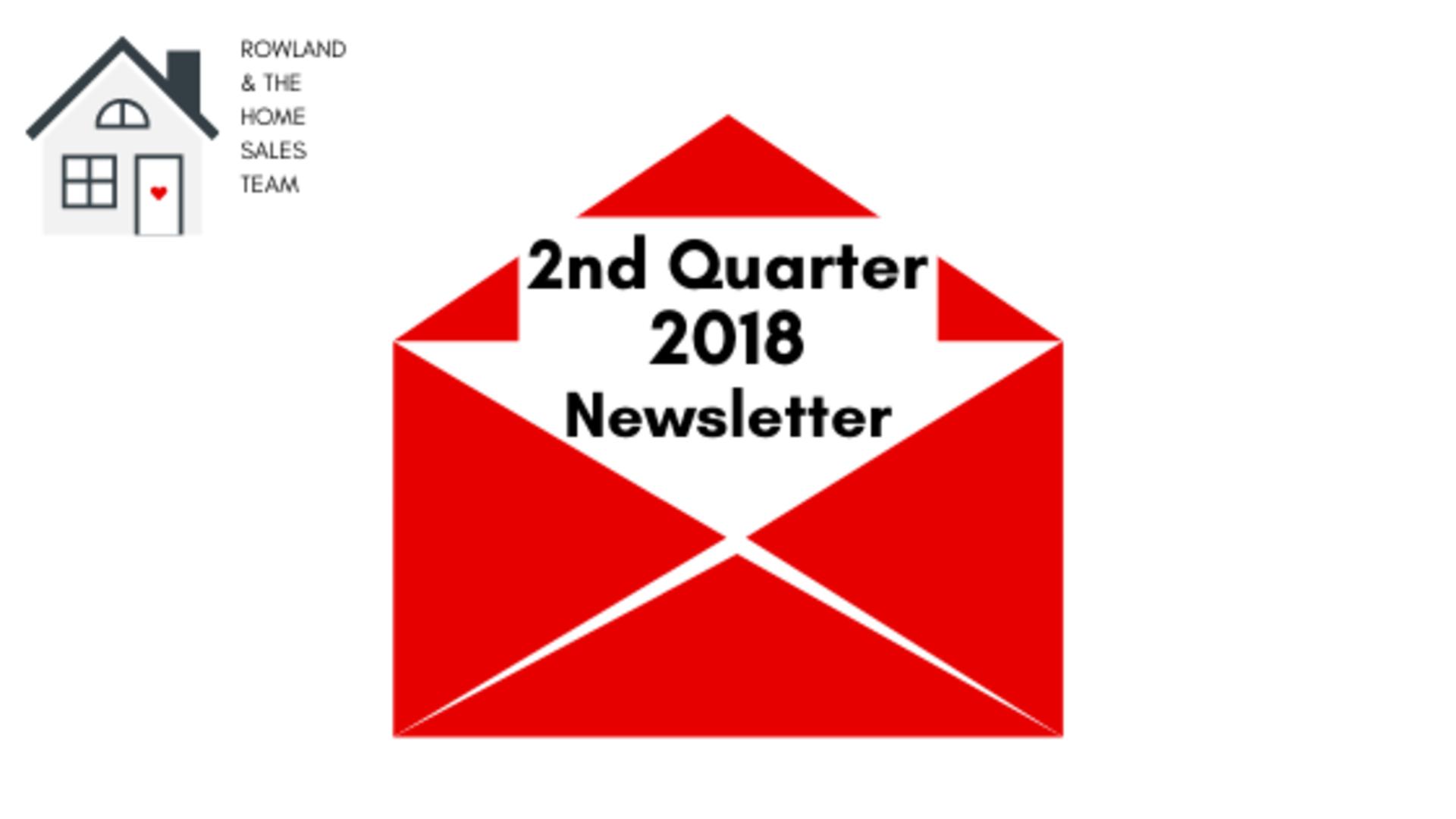 2nd Quarter 2018 Newsletter
