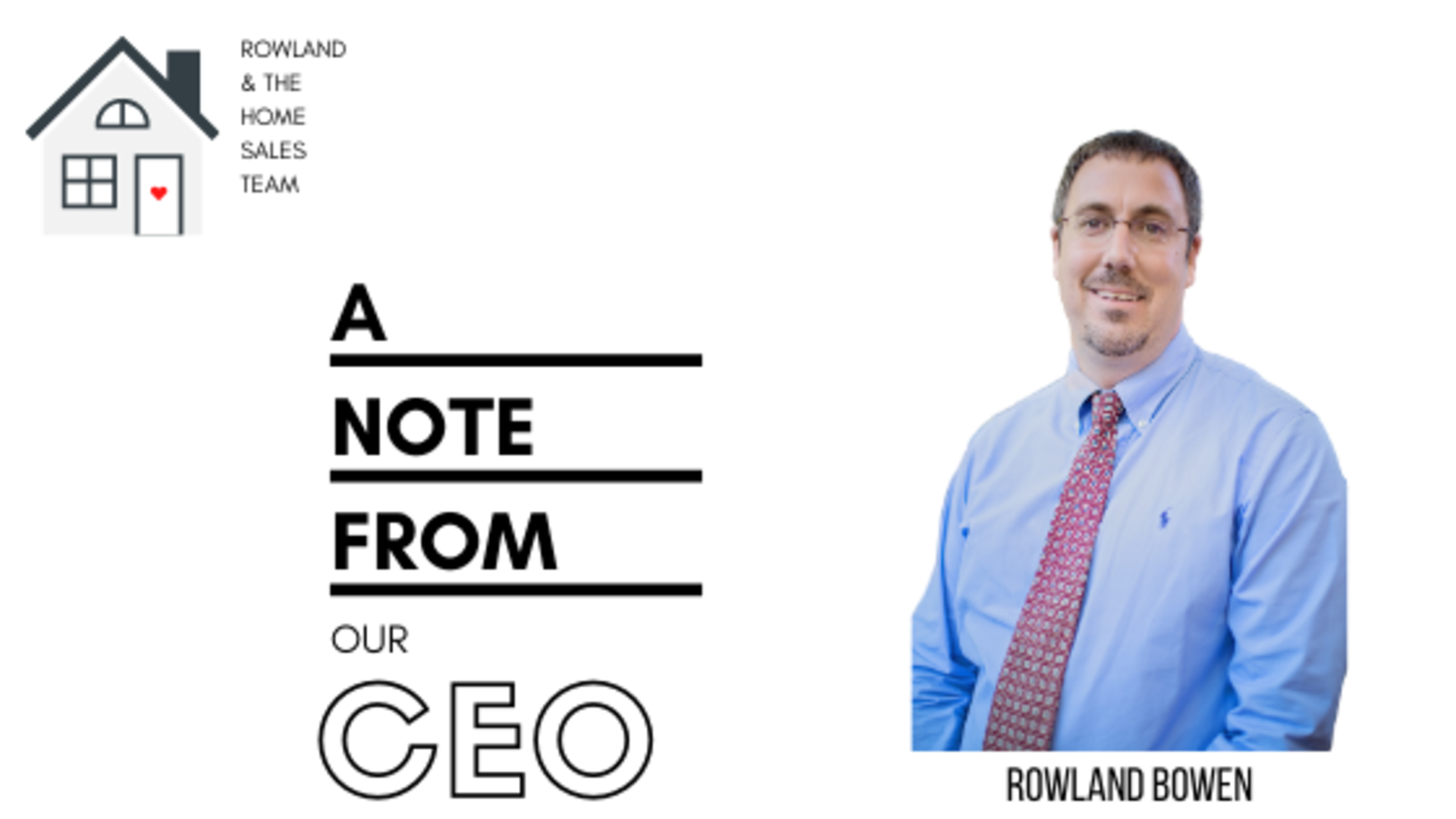 A Note from Our CEO