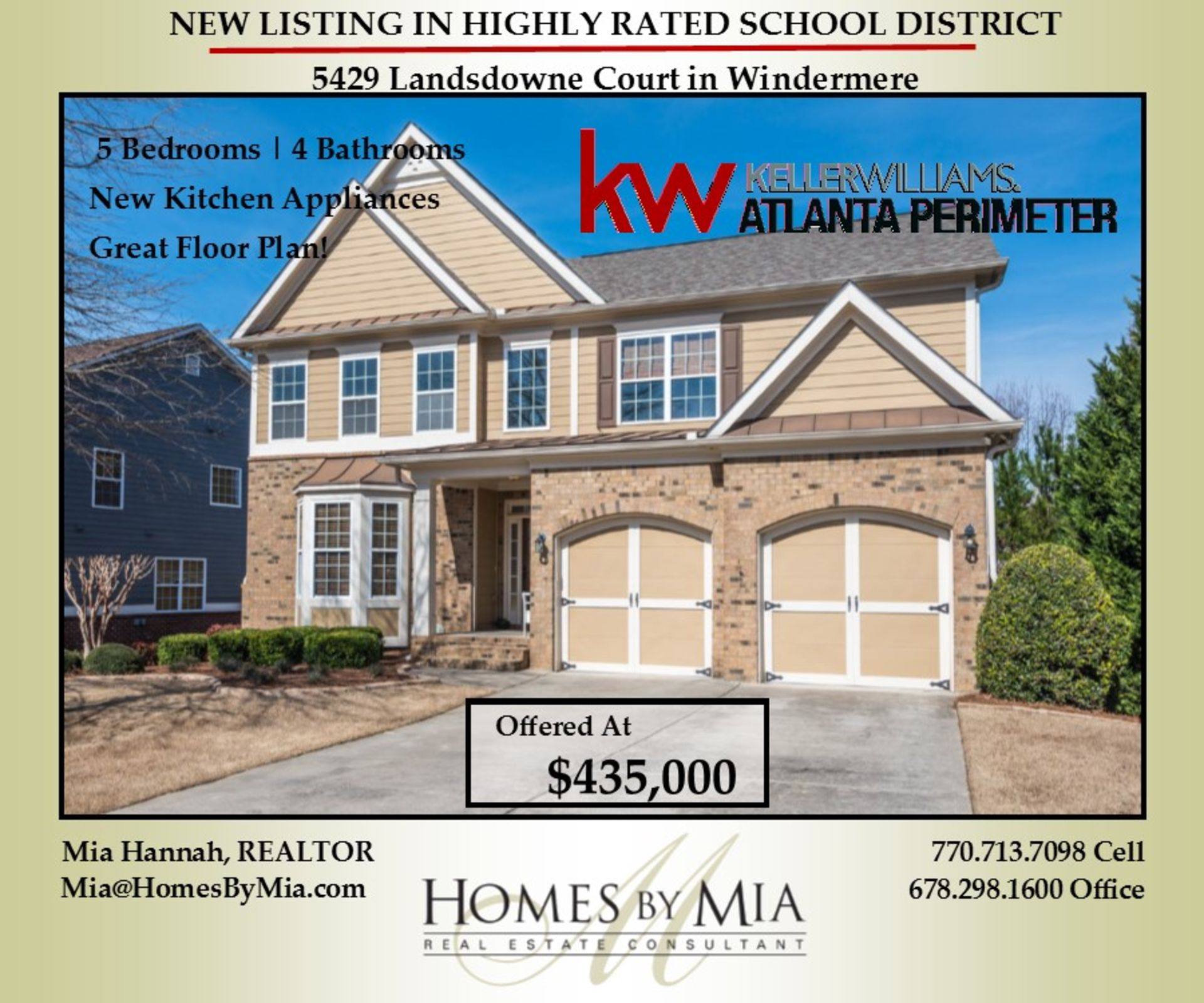 New Listing in South Forsyth School District