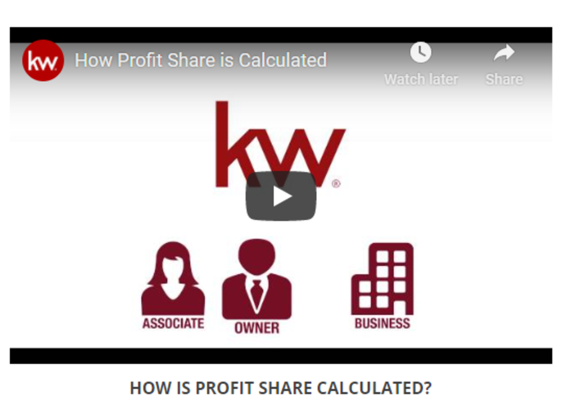 Profit Share at KW
