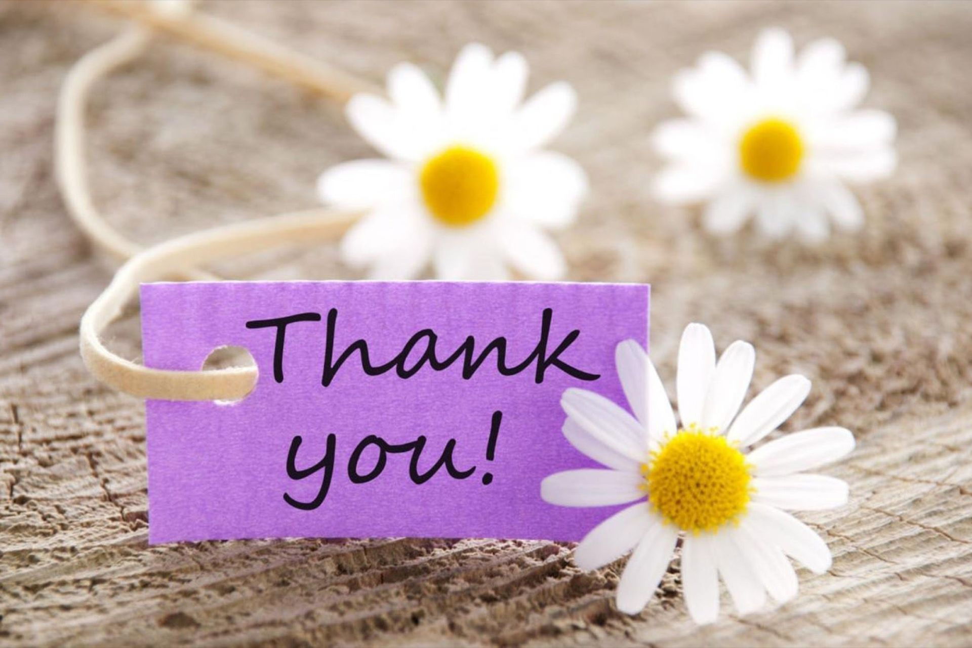 A Note of Thanks & Appreciation!