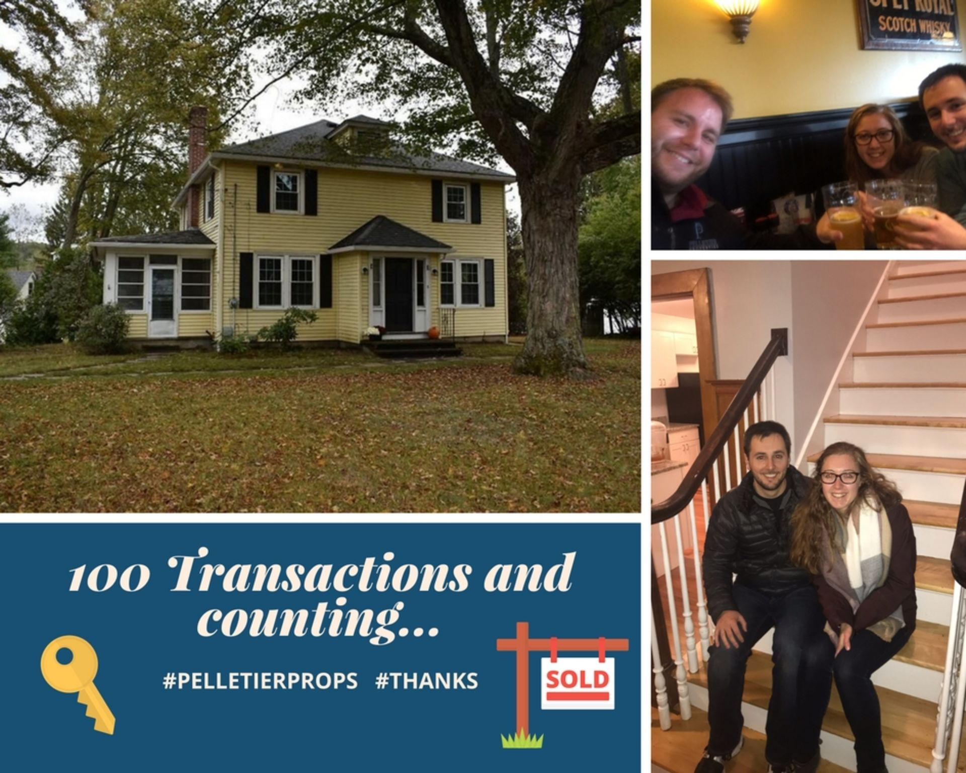 100 Transactions and Counting: A Thank You to All Our Customers, from Pelletier Properties