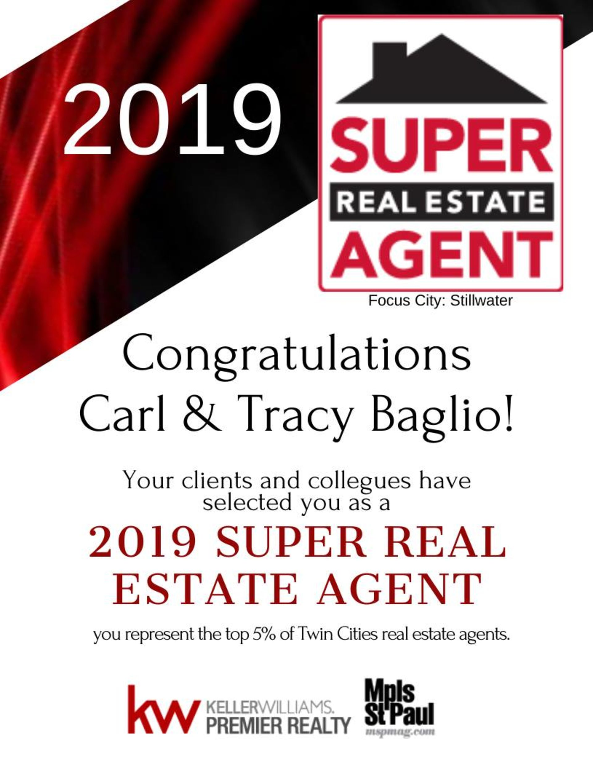 So Honored to be voted 2019 Super Real Estate Agents!