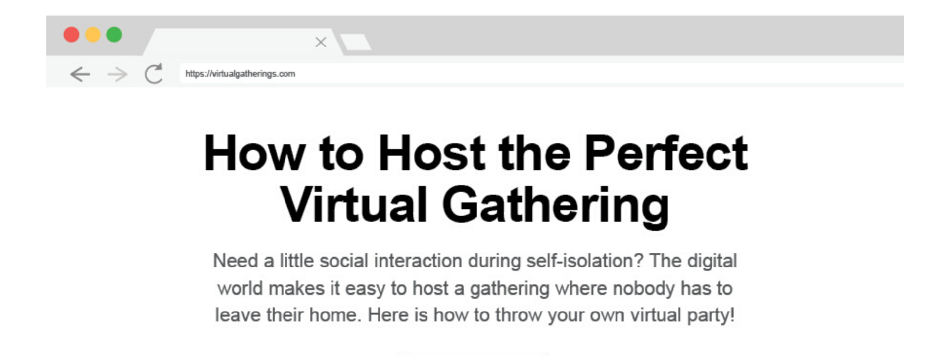How to Host the Perfect Virtual Gathering
