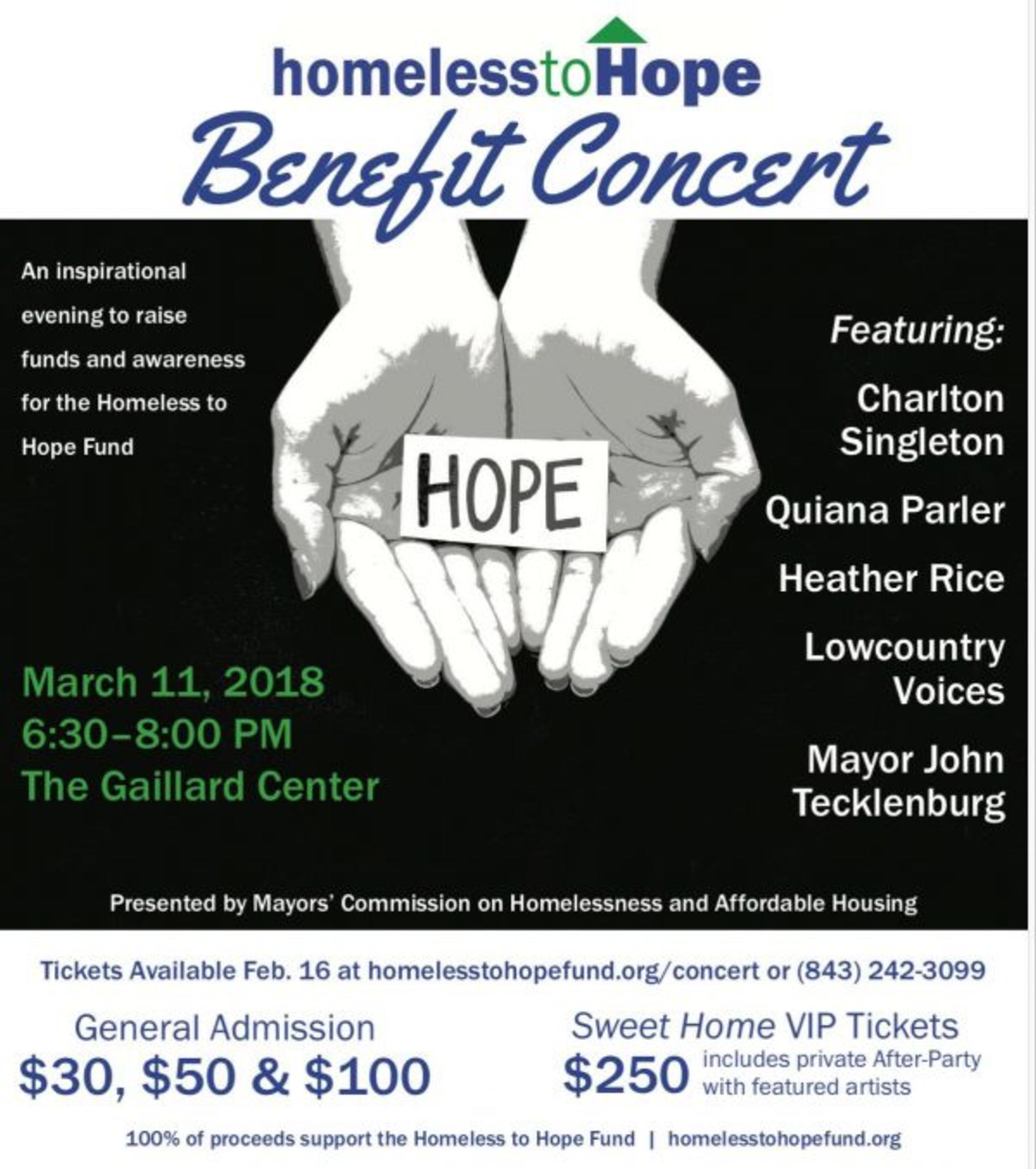 Homeless to Hope Benefit Concert