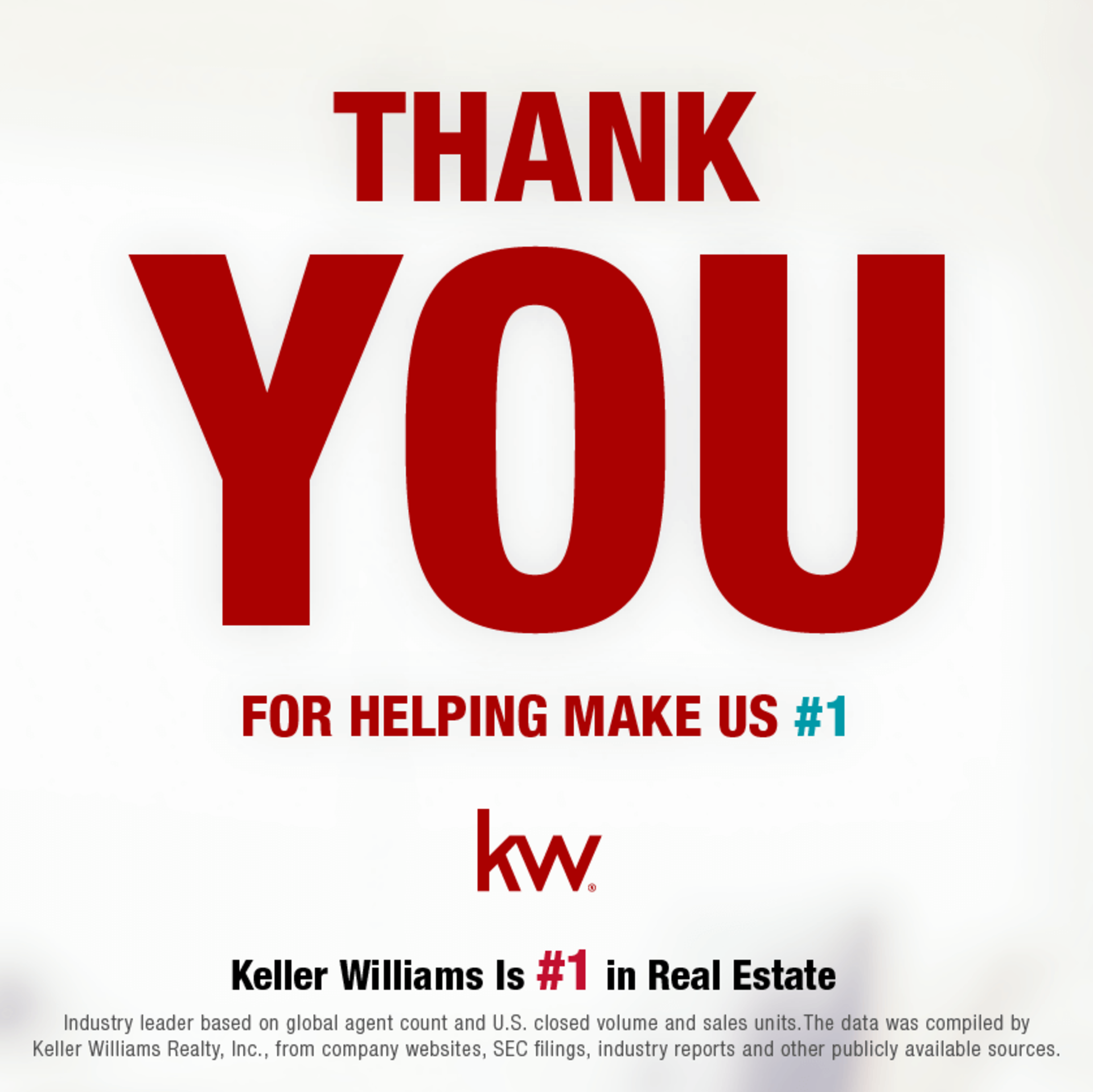 KELLER WILLIAMS REIGNS AS NO. 1 REAL ESTATE FRANCHISE IN THE U.S.