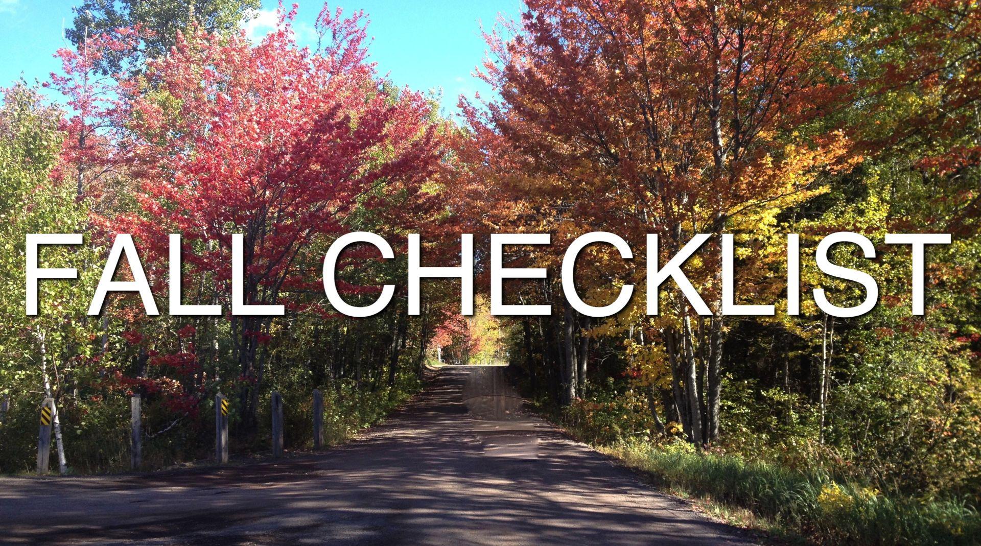 Home Maintenance Fall Checklist