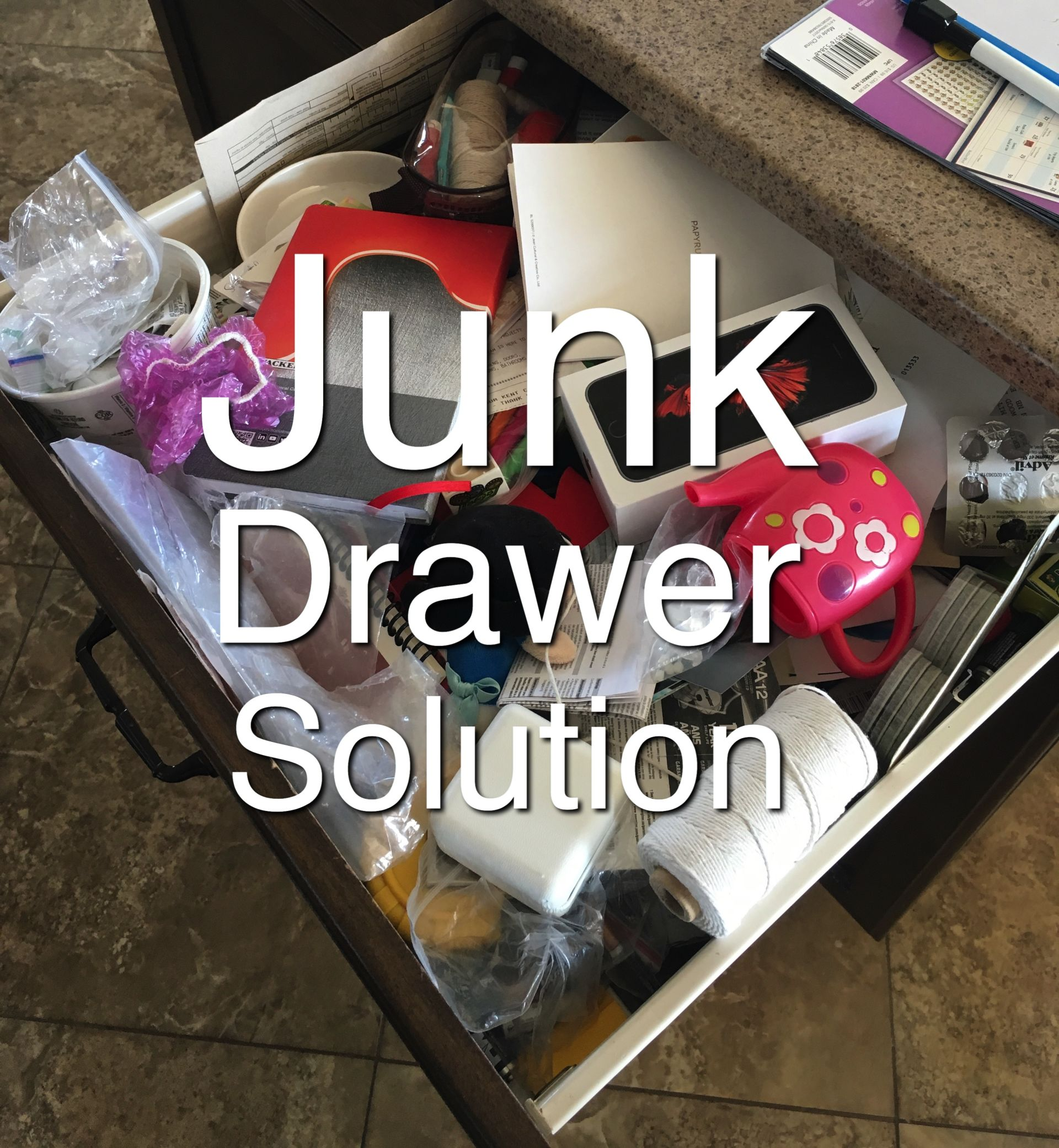 Transform a cluttered catch-all drawer in a few easy steps