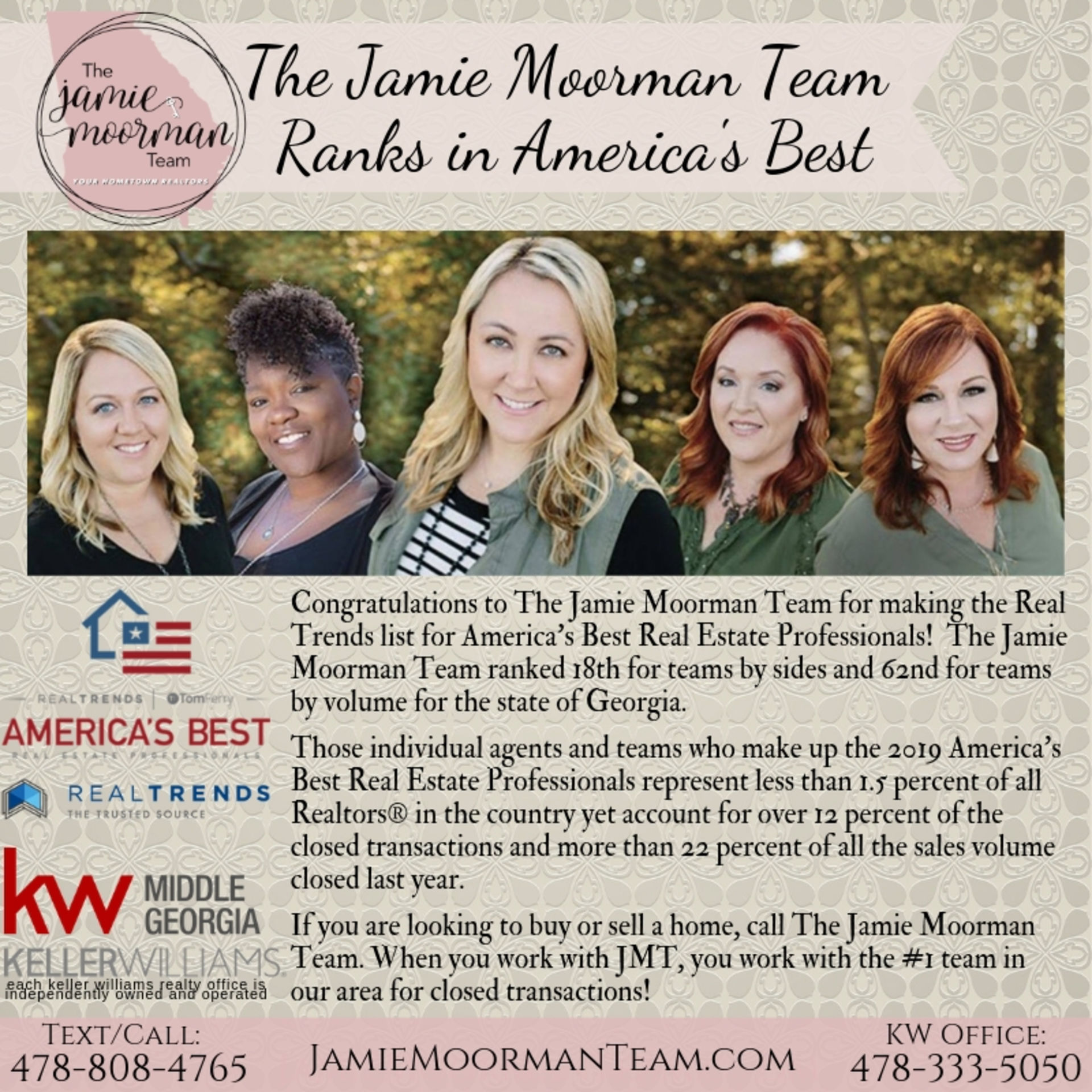 The Jamie Moorman Team Ranks in America's Best
