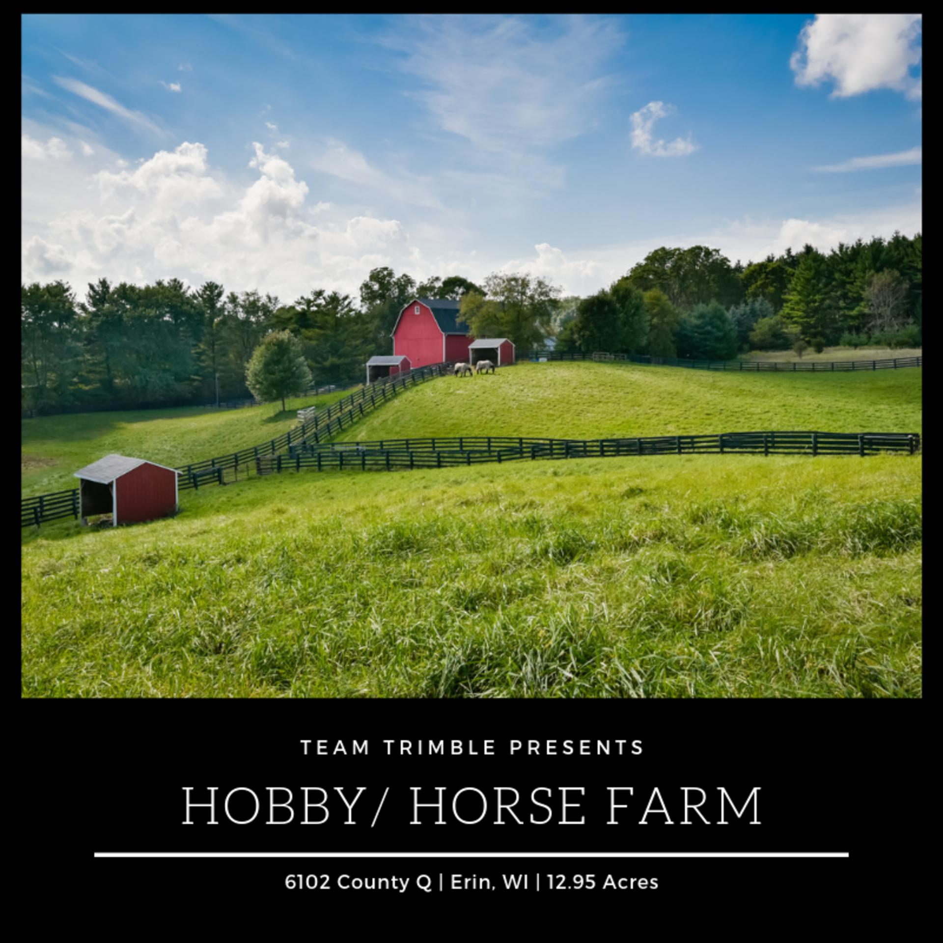 Hobby/Horse Farm along the Oconomowoc River For Sale