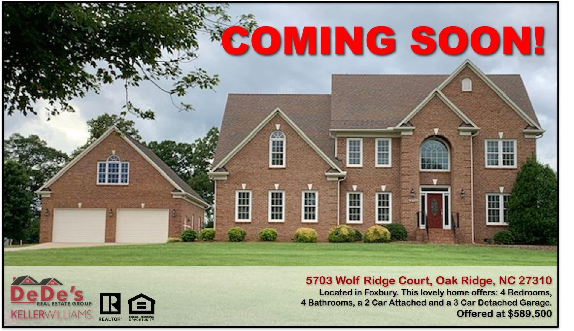 Coming Soon in Oak Ridge, NC!