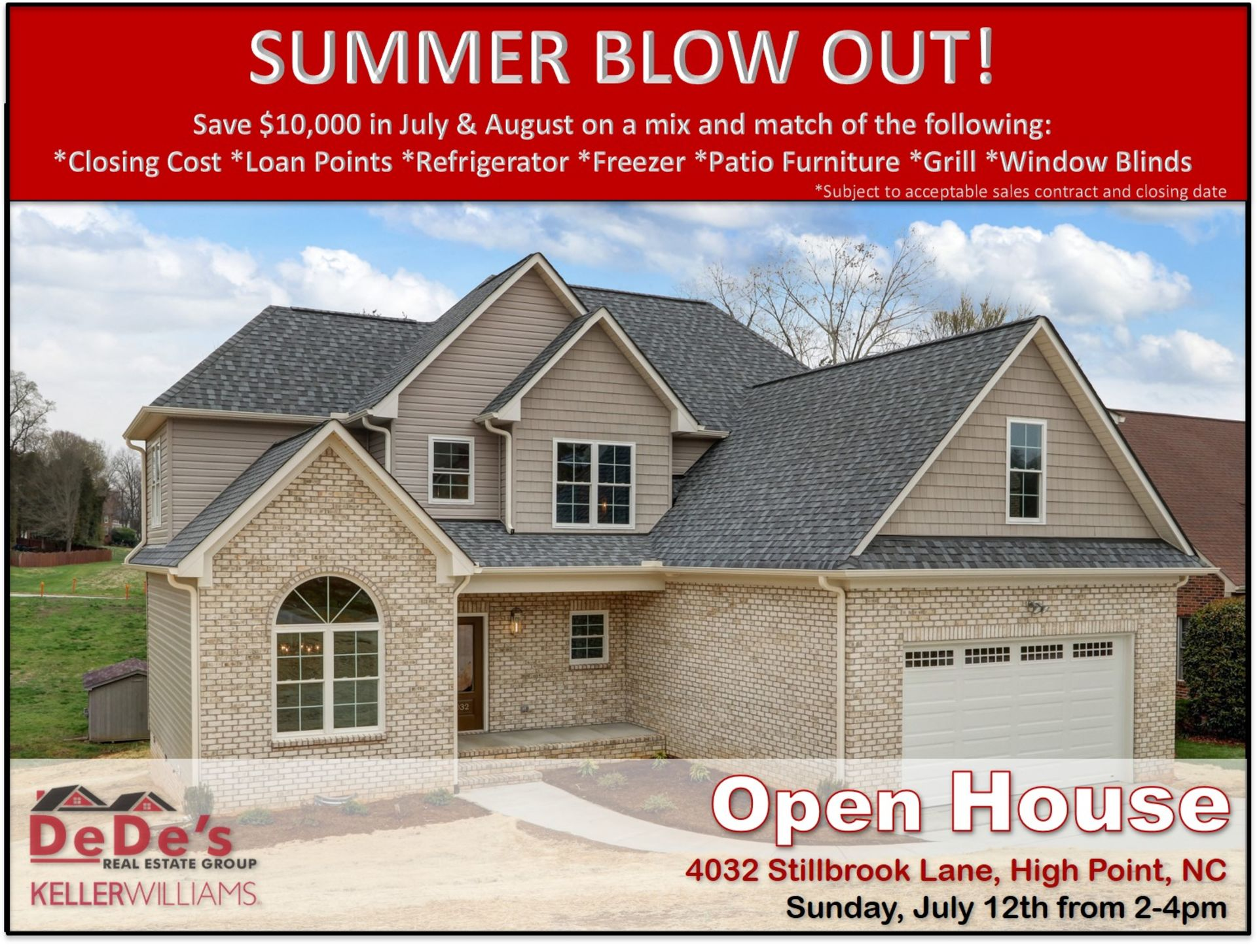 OPEN HOUSE THIS WEEKEND – JULY 12 from 2:00 – 4:00