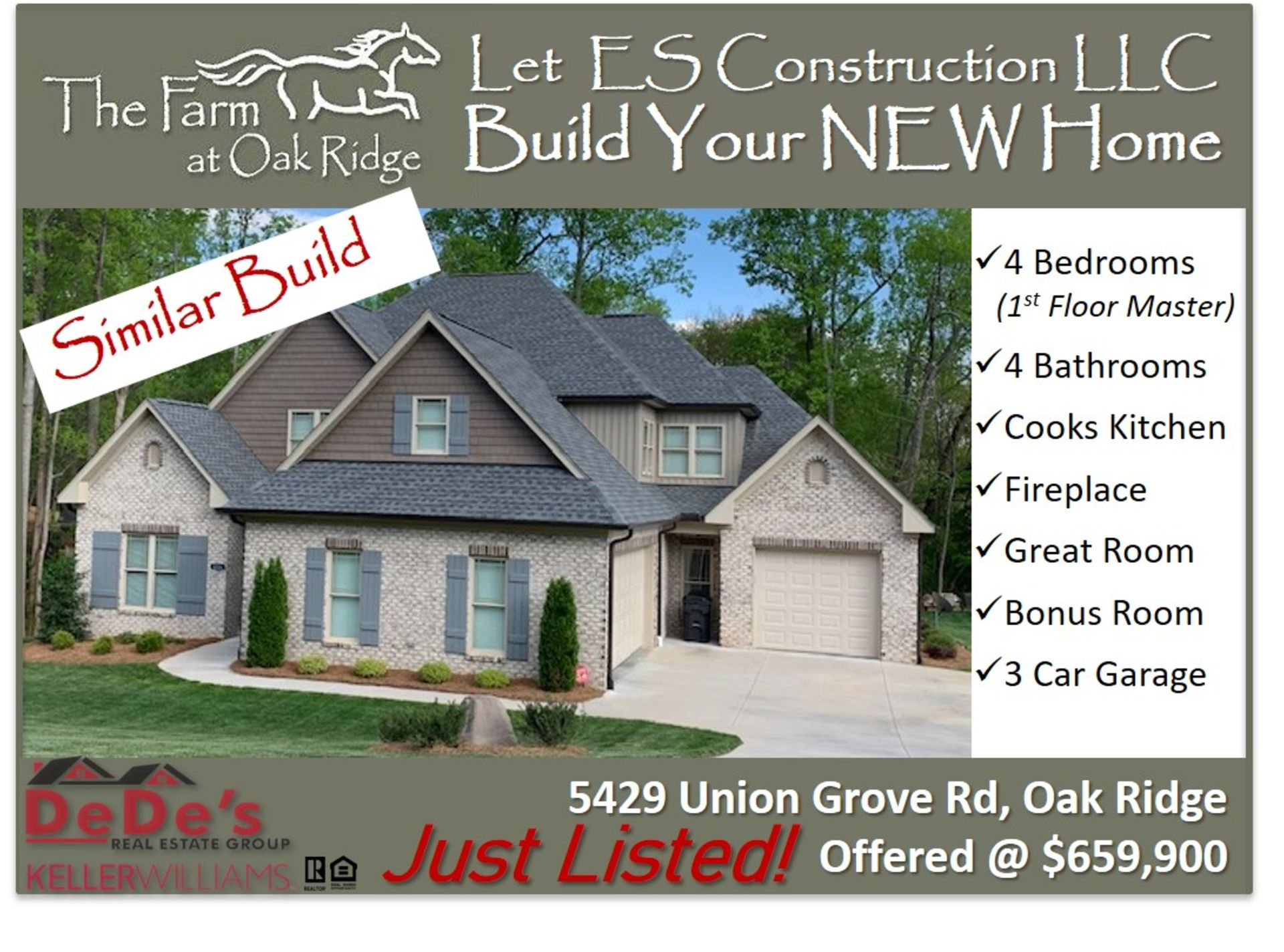 Let ES Construction LLC Build YOUR NEW Dream Home