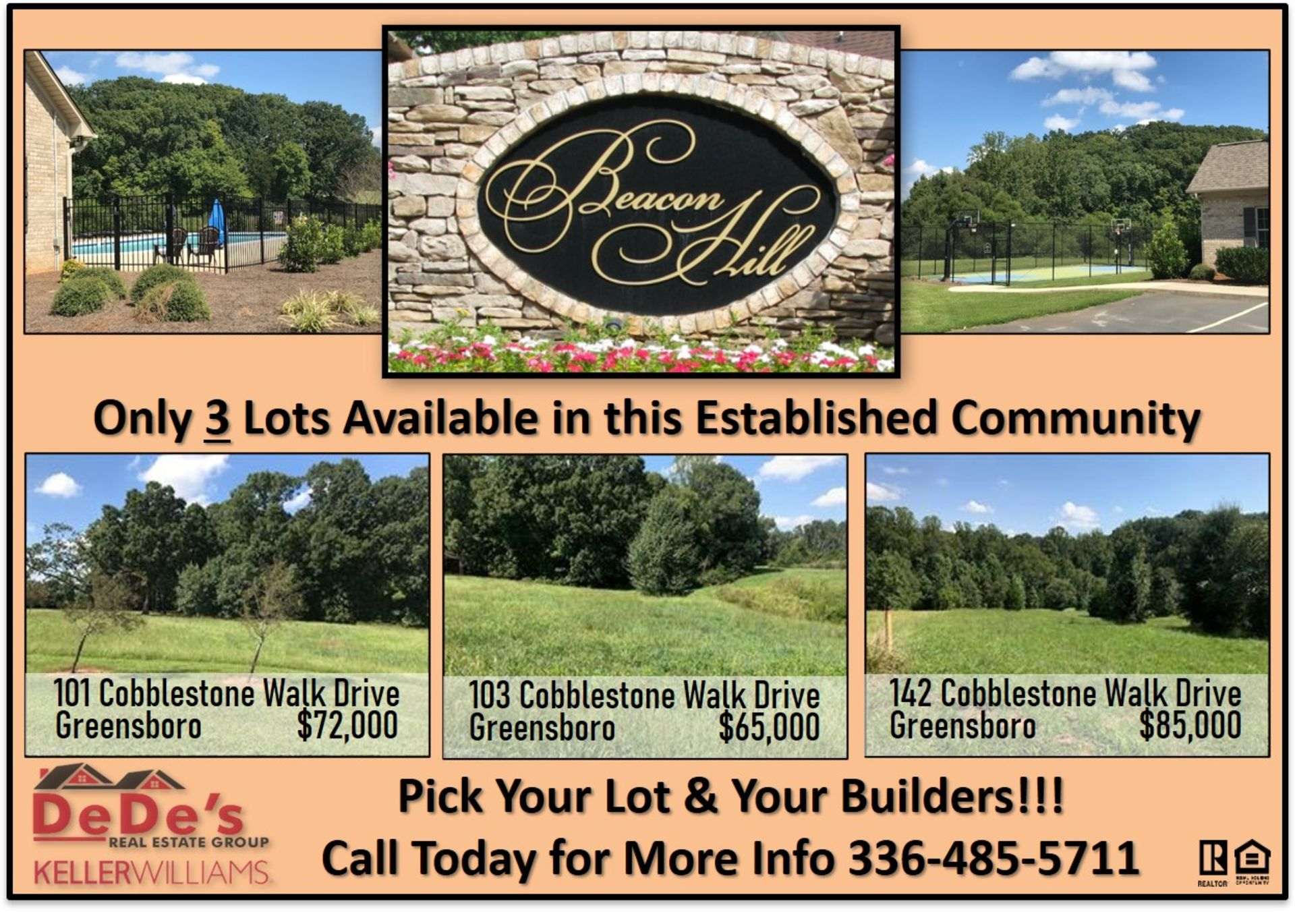 Only 3 Lot Available in Beacon Hill – Build Your Dream Home Here!!
