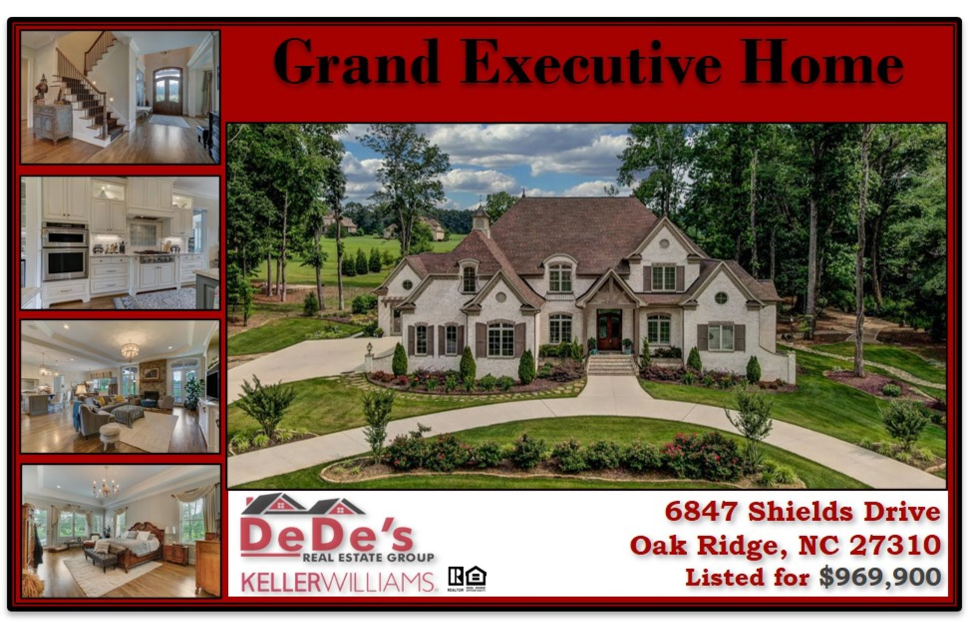 Take a look at this Grand Executive Home in Oak Ridge!!