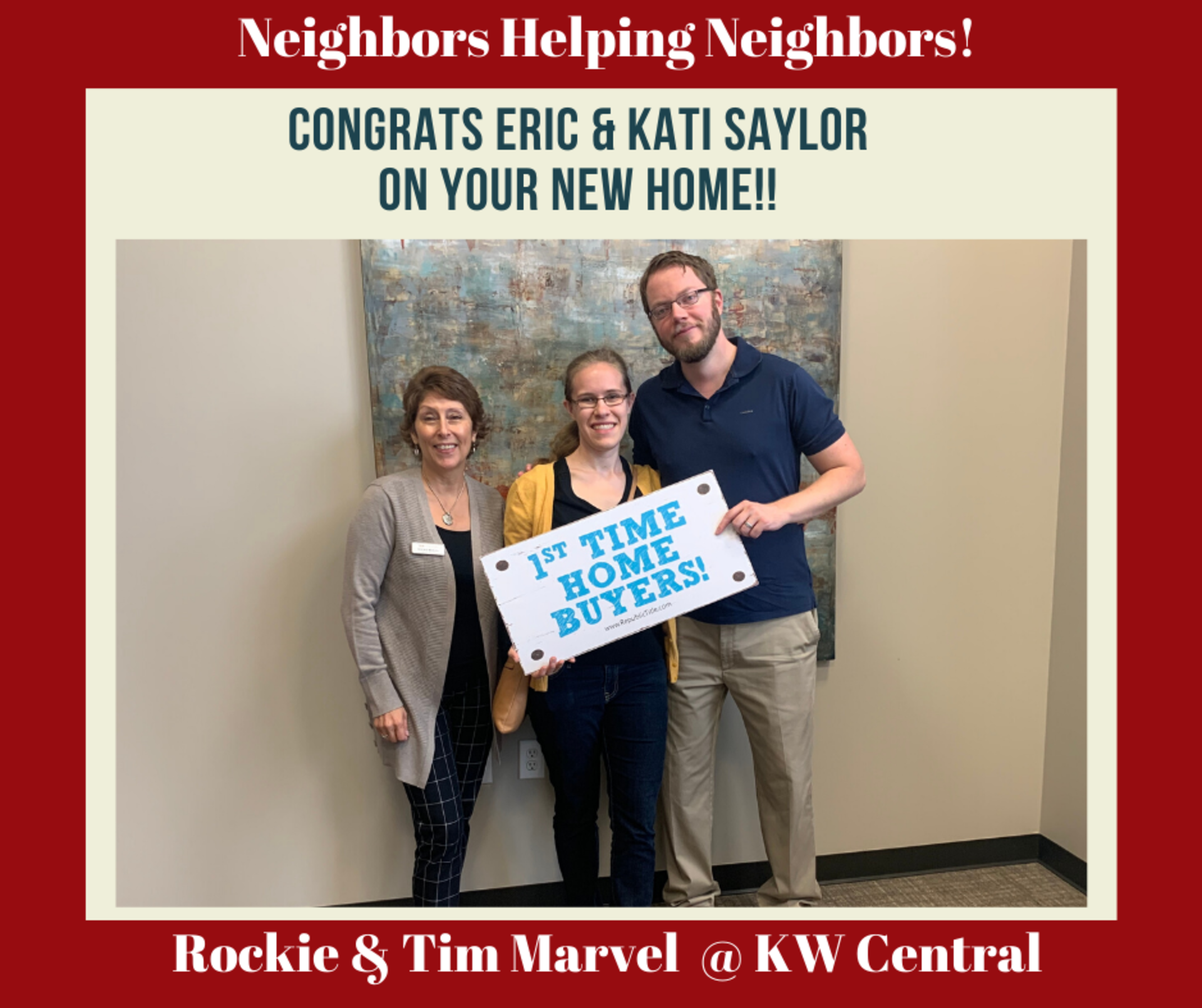 NEIGHBORS HELPING NEIGHBORS:  Happy Home Buyers – Saylor Family