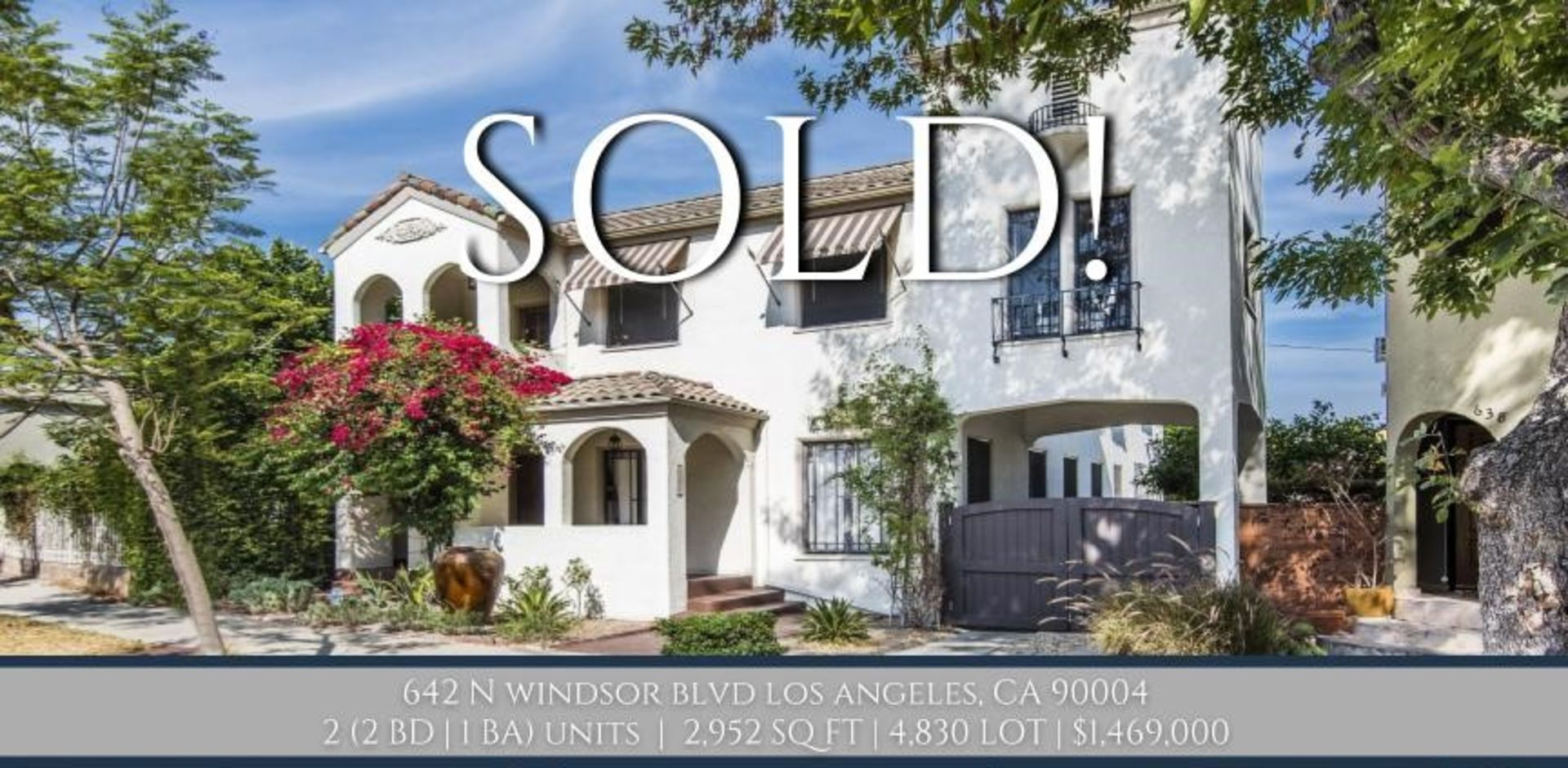 SOLD!! Charming 1925 Spanish Character Duplex in Windsor Square!