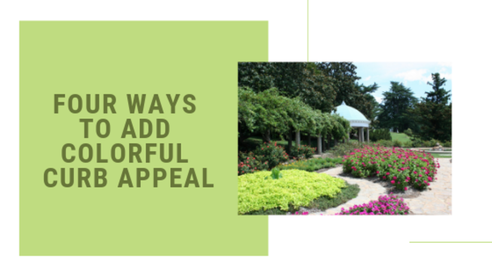 Four Ways To Add Colorful Curb Appeal To Your New Home