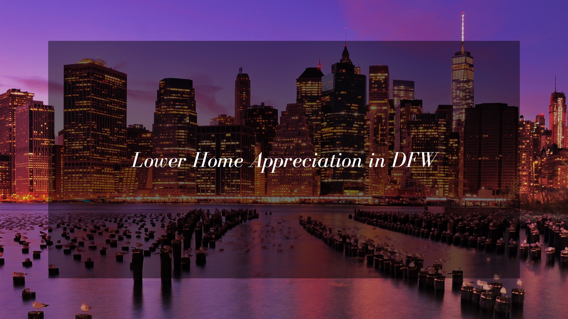 Lower Home Appreciation Around the Country