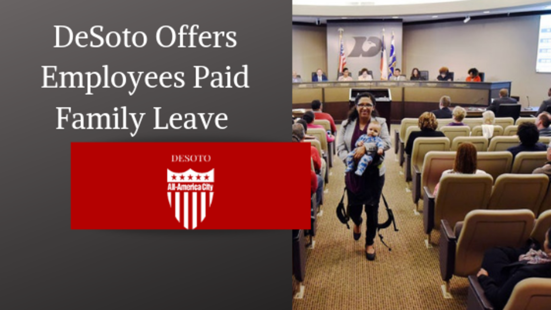 DeSoto becomes first city in North Texas to offer city employees paid family leave