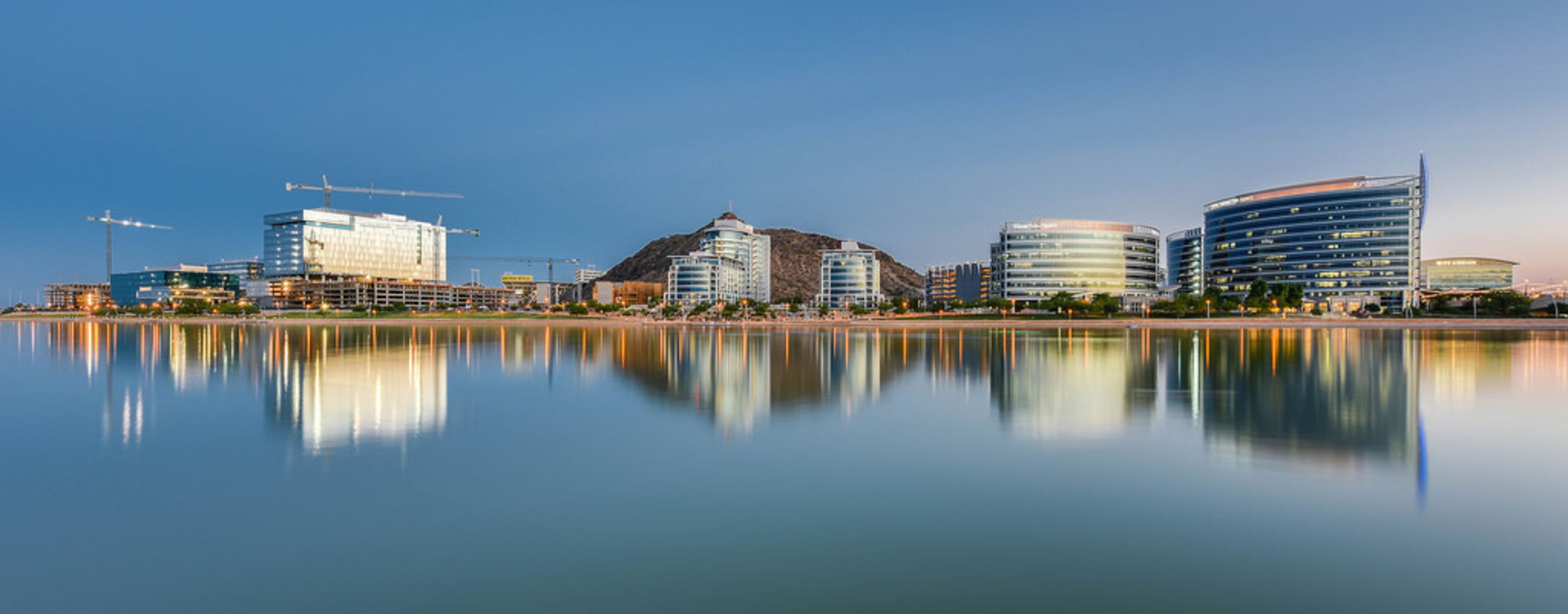 Tempe Town Lake and it's emerging skyline