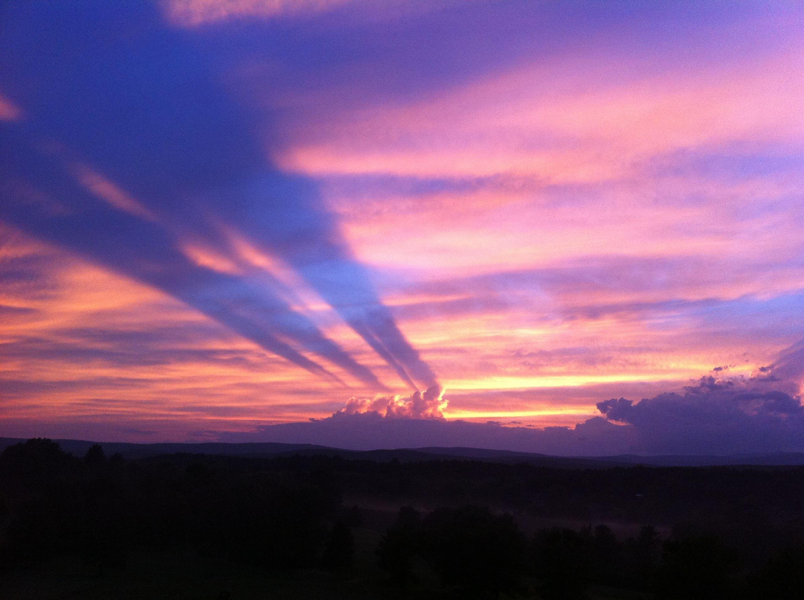 Amazing Catskills Sunset! There's a light show every night!