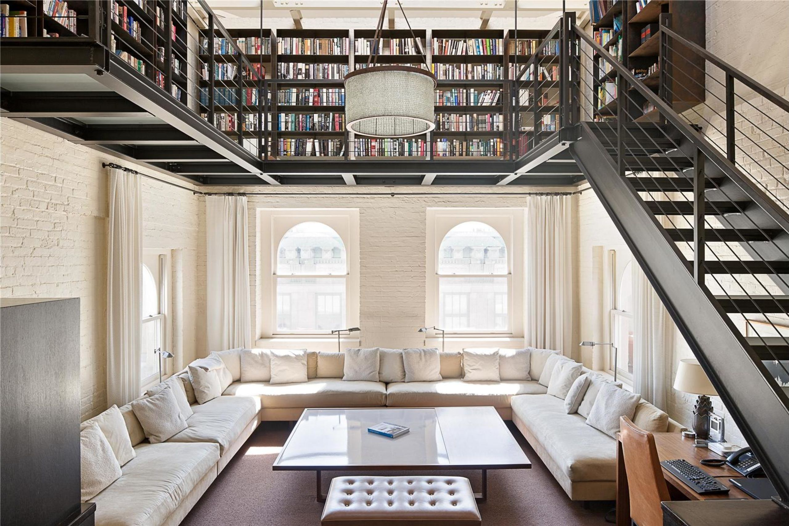 Penthouse apartment with library