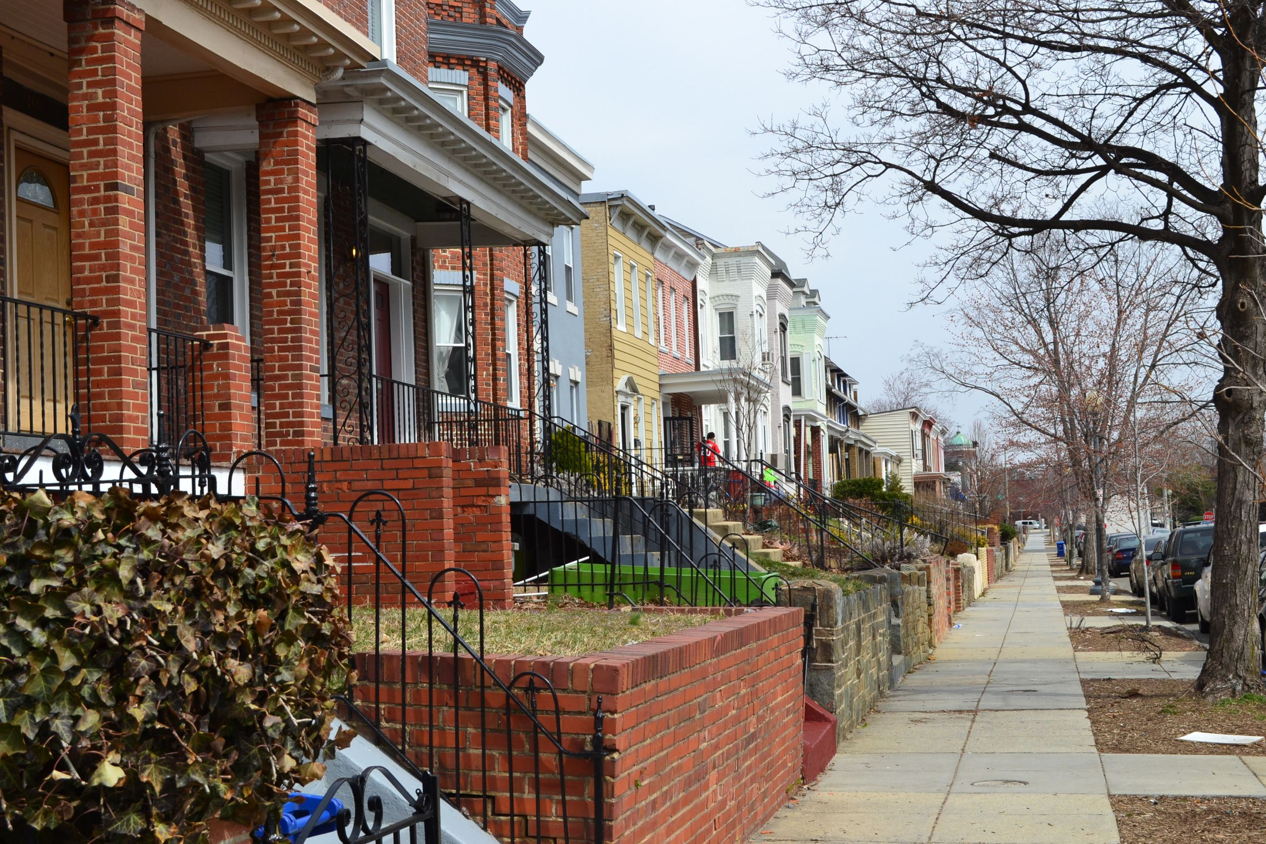 Set of rowhomes in the Trinidad neighborhood of Northeast DC