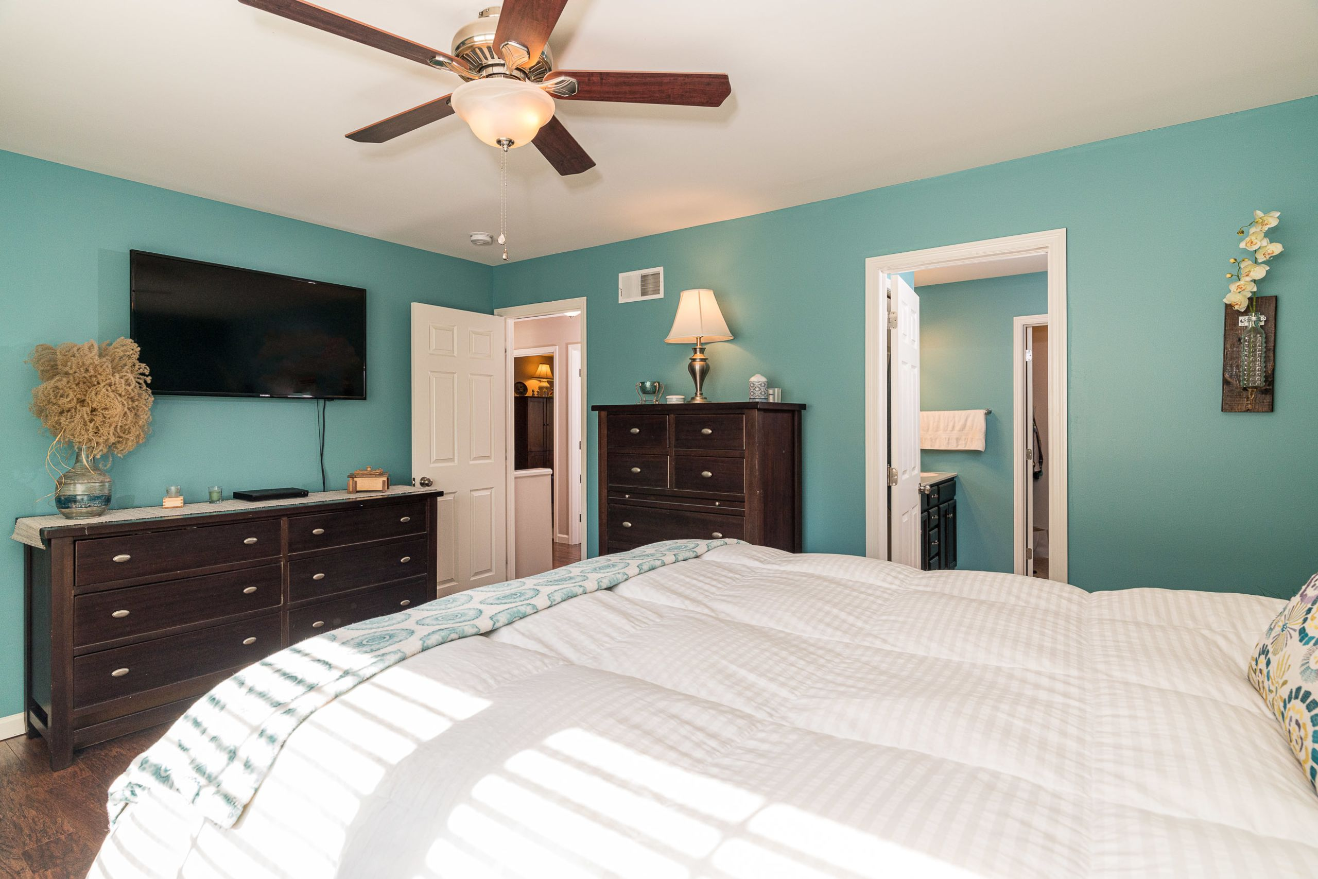 Master Bedroom with private bath and walk in closet