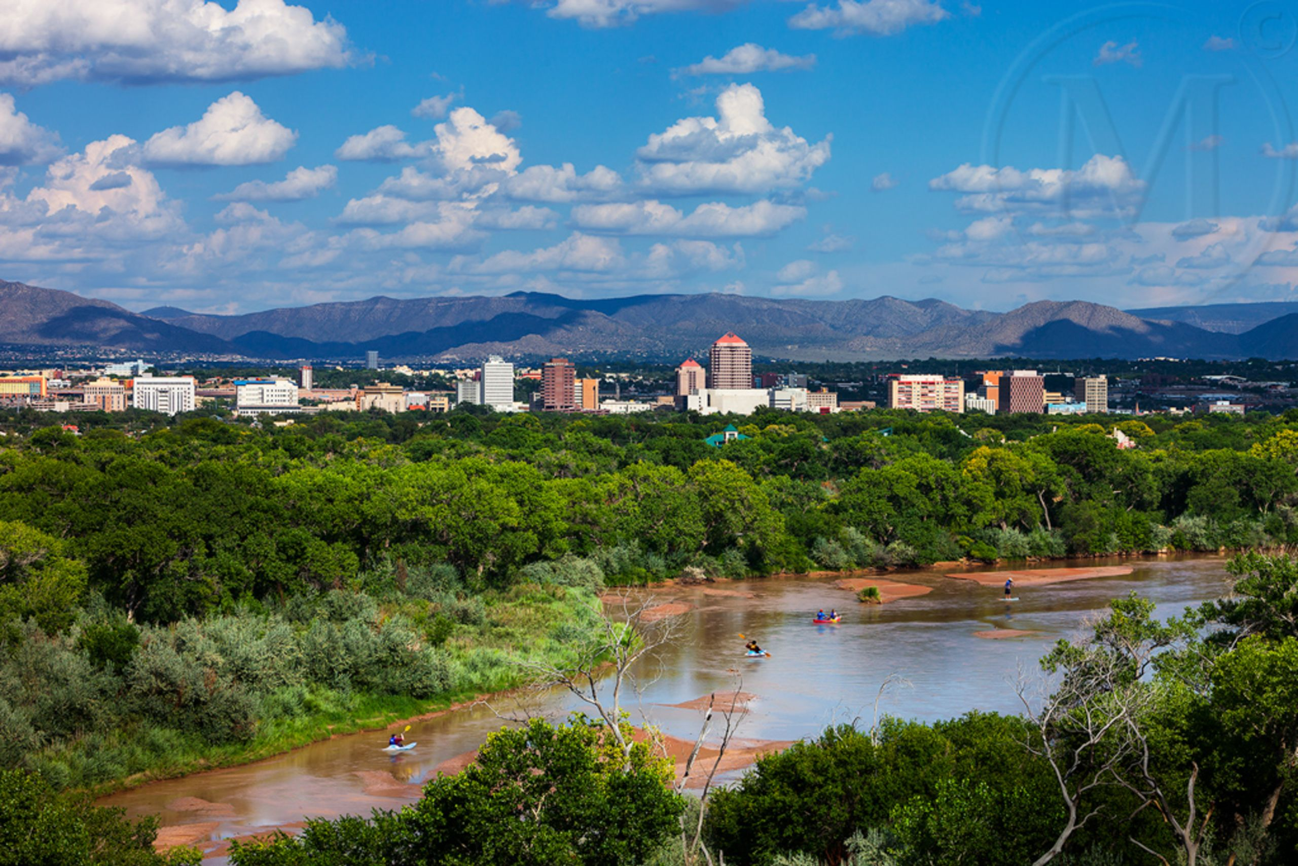 Rio Grande & DT ABQ by Marble Street Studio