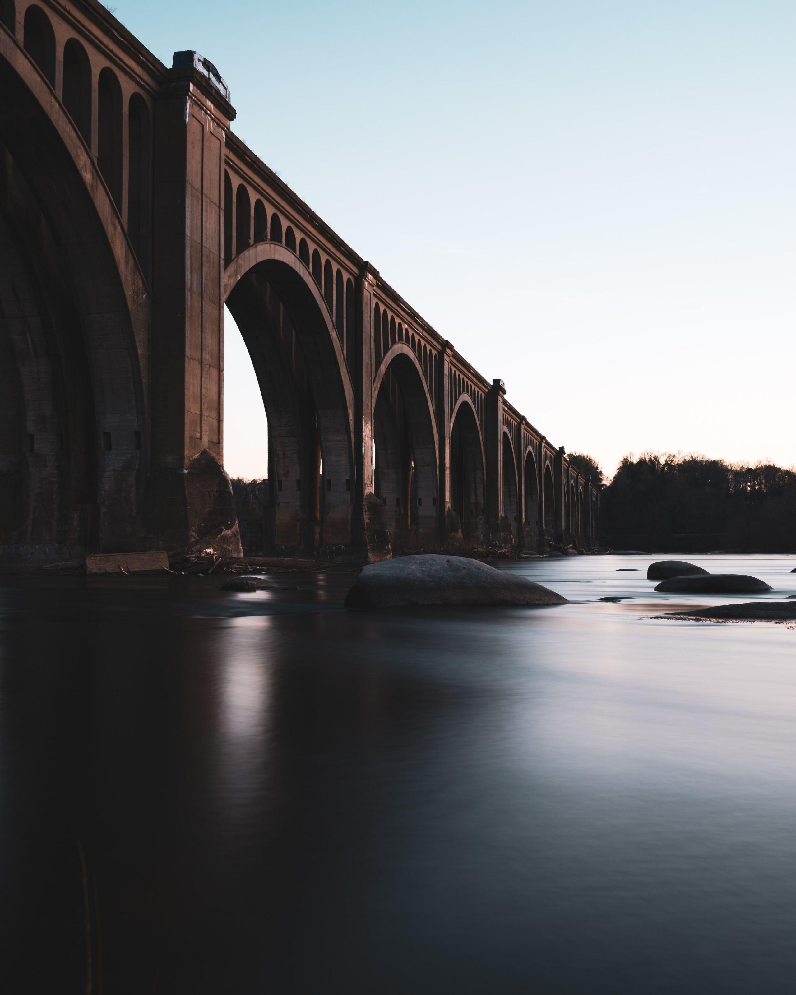 Train Bridge over the James River