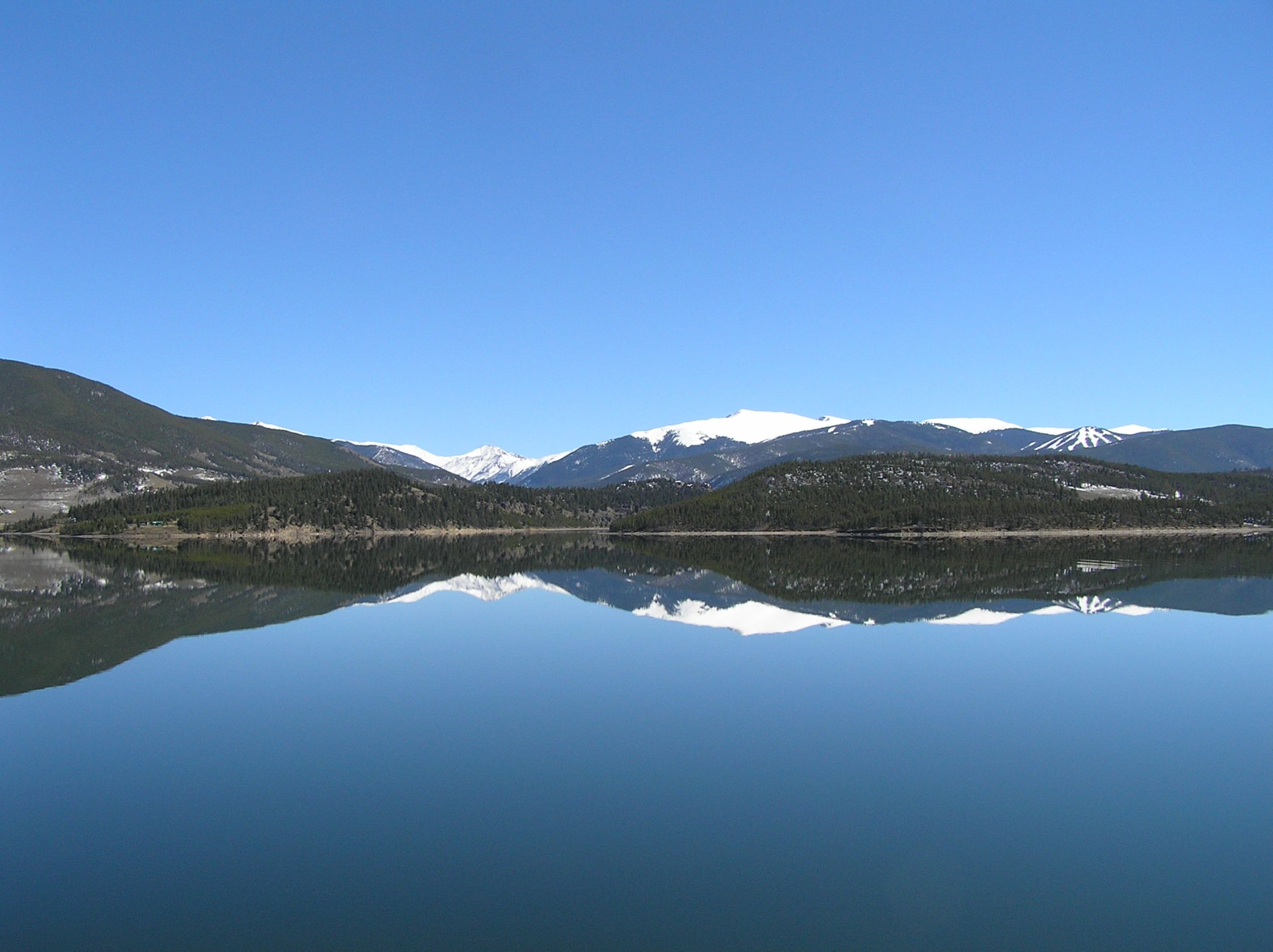 The looking glass of Lake Dillon.