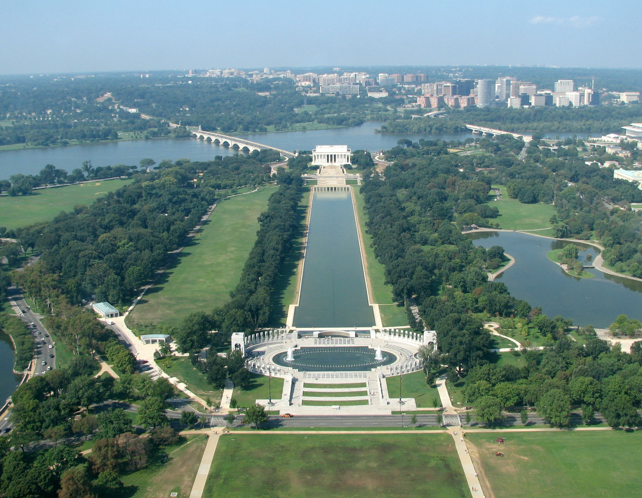 Reflecting Pool from Washington Monument