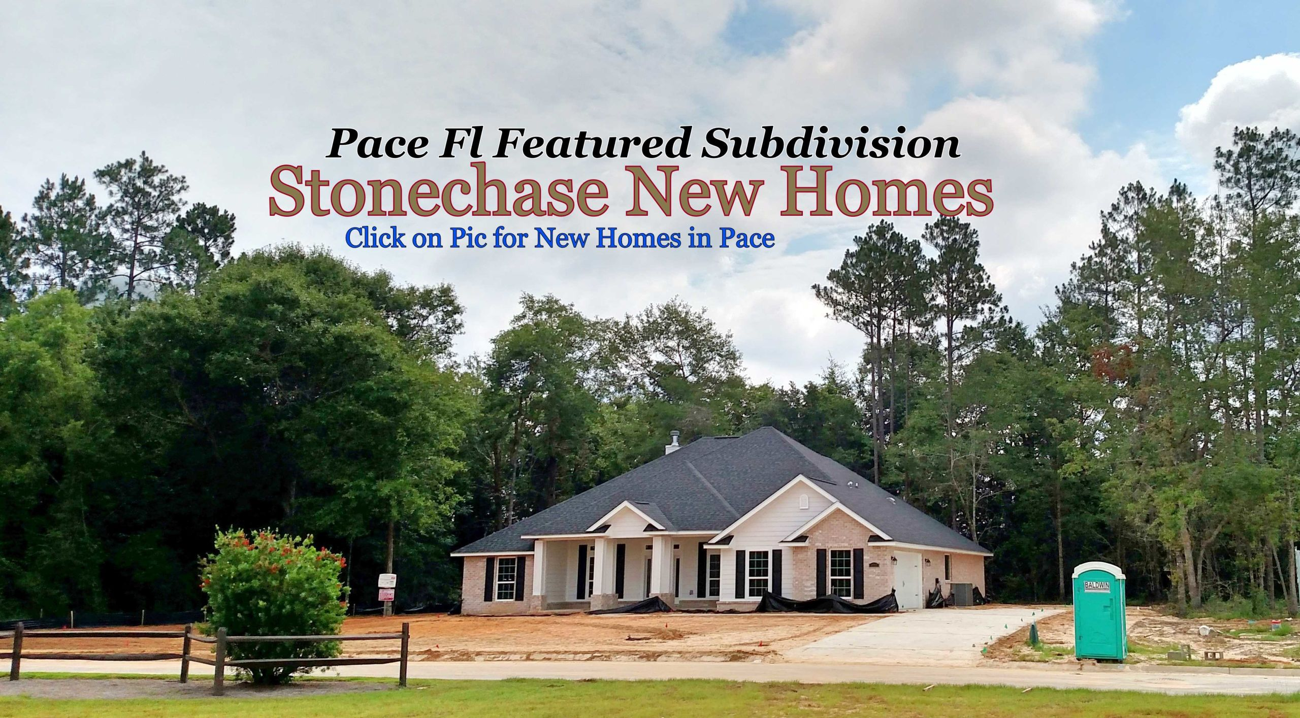 Click Here for New Construction Homes in Pace