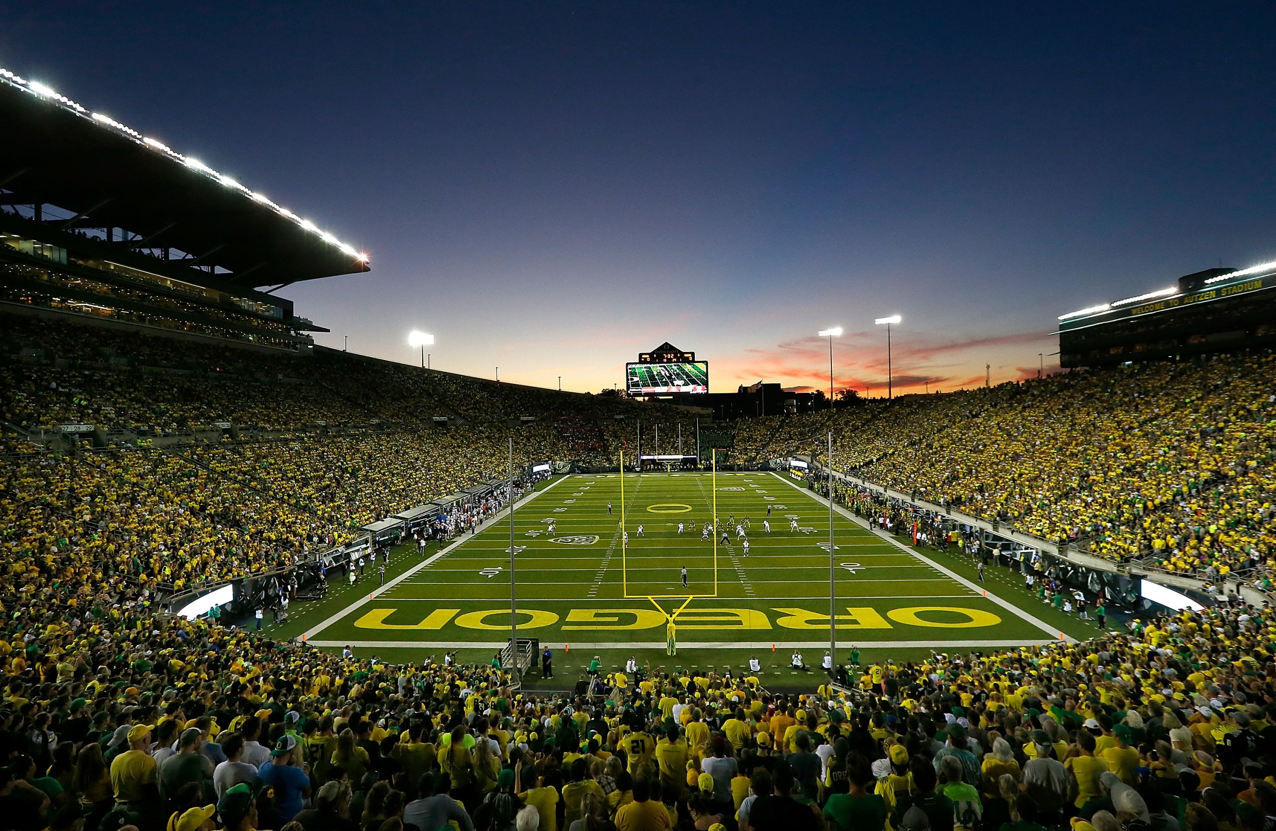 Autzen Stadium Home of the University of Oregon Duck Football