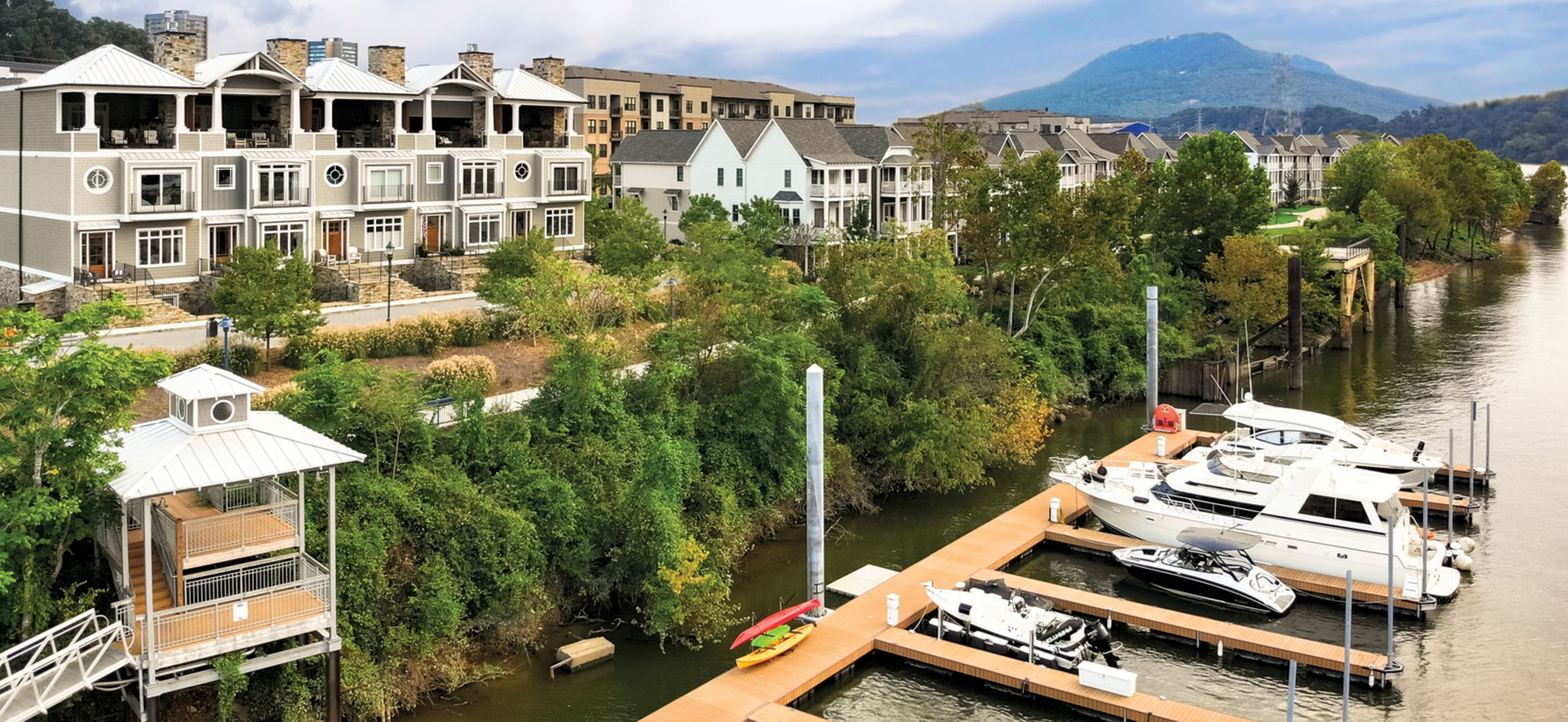 Townhomes include perpetual lease of private boat slip