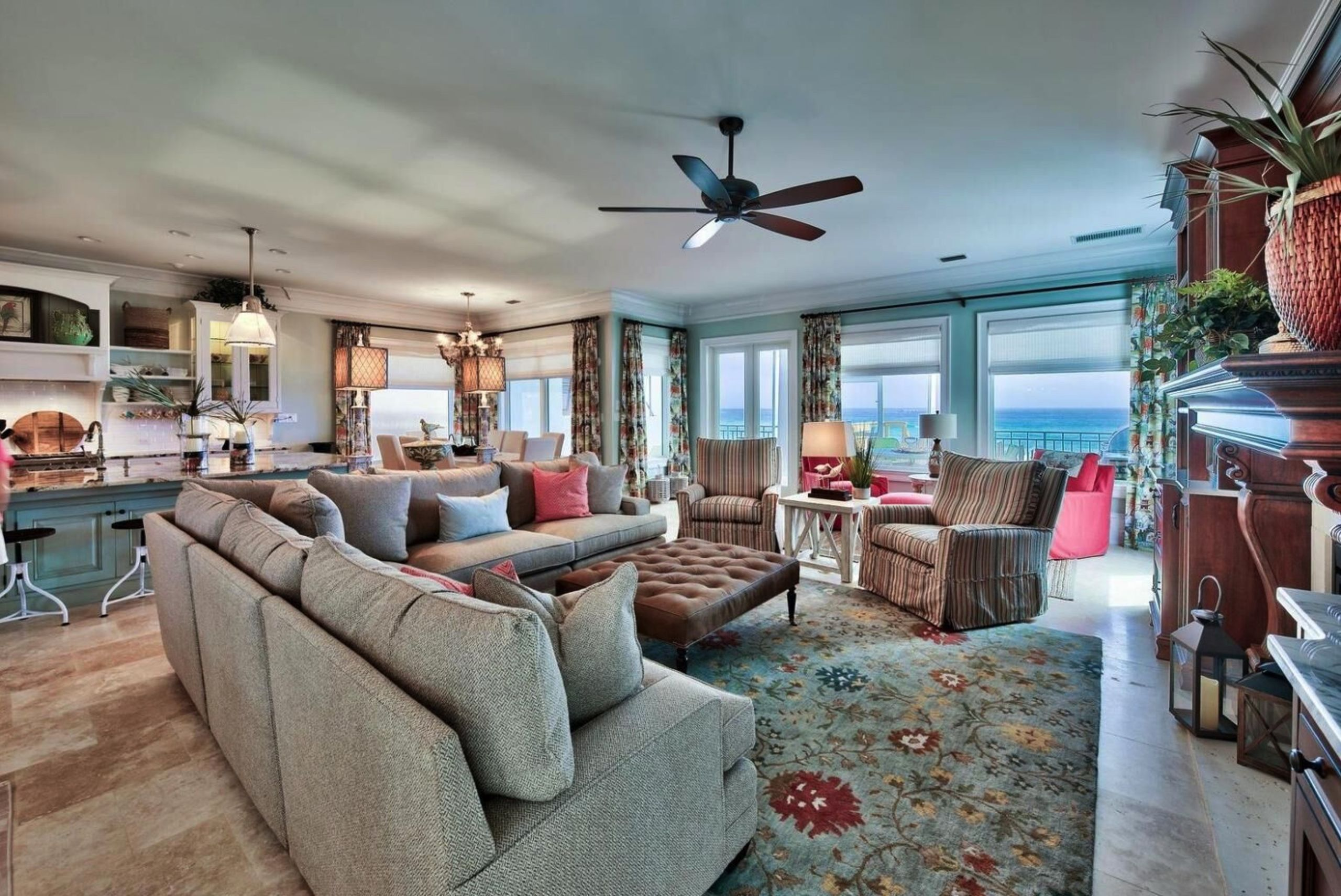 Beachfront living lends itself to lazy days by the seashore and relaxing nights with family.