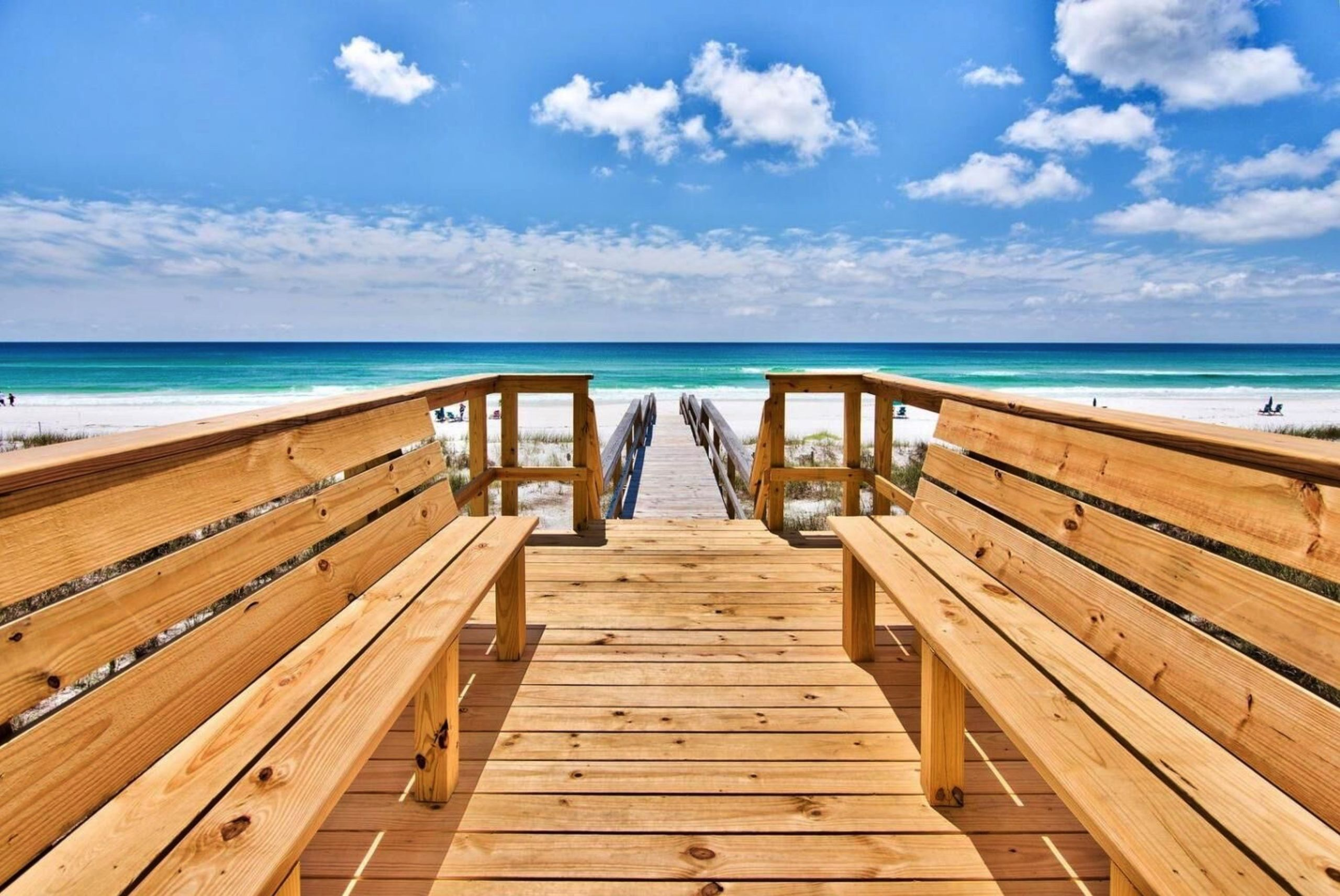 Destin is famous for its sugar white sand + emerald green water.