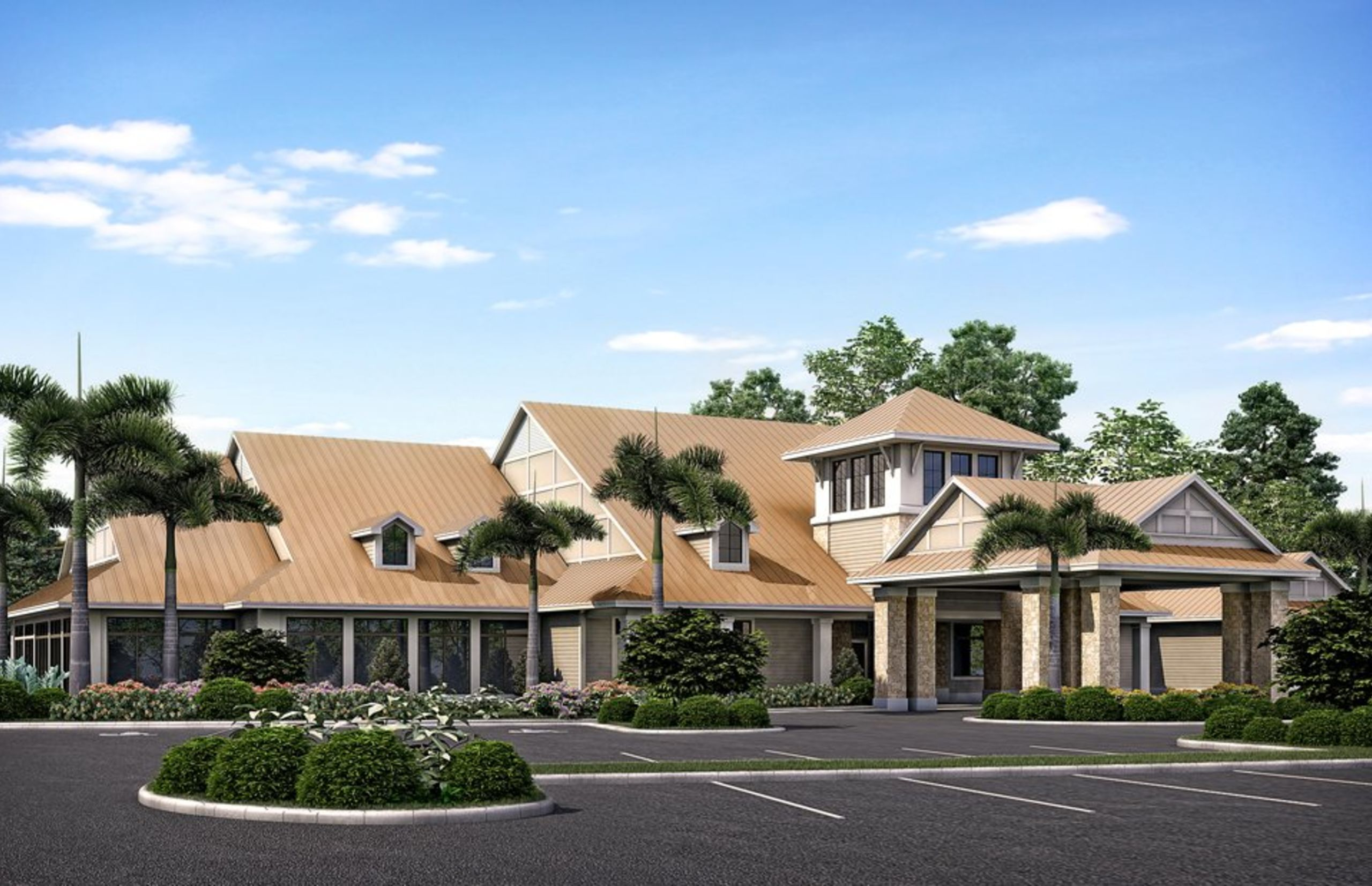 Winding Cypress Naples Clubhouse Rendering