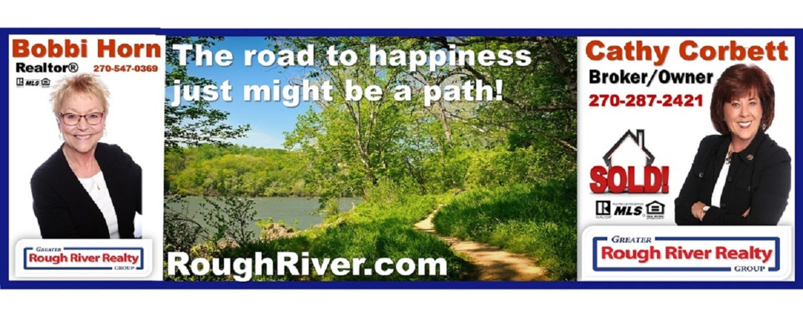Your road to happiness is a lake path!