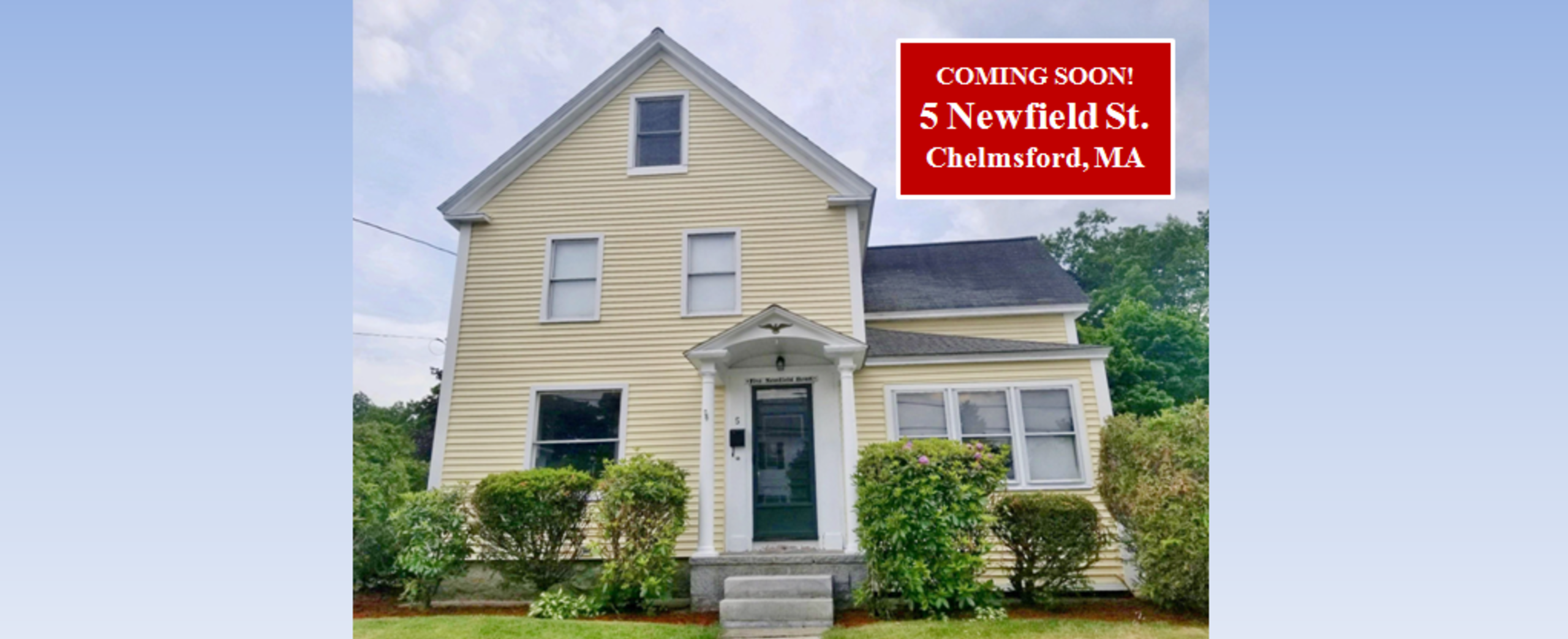 COMING SOON - 5 NEWFIELD ST, CHELMSFORD, MA 01863