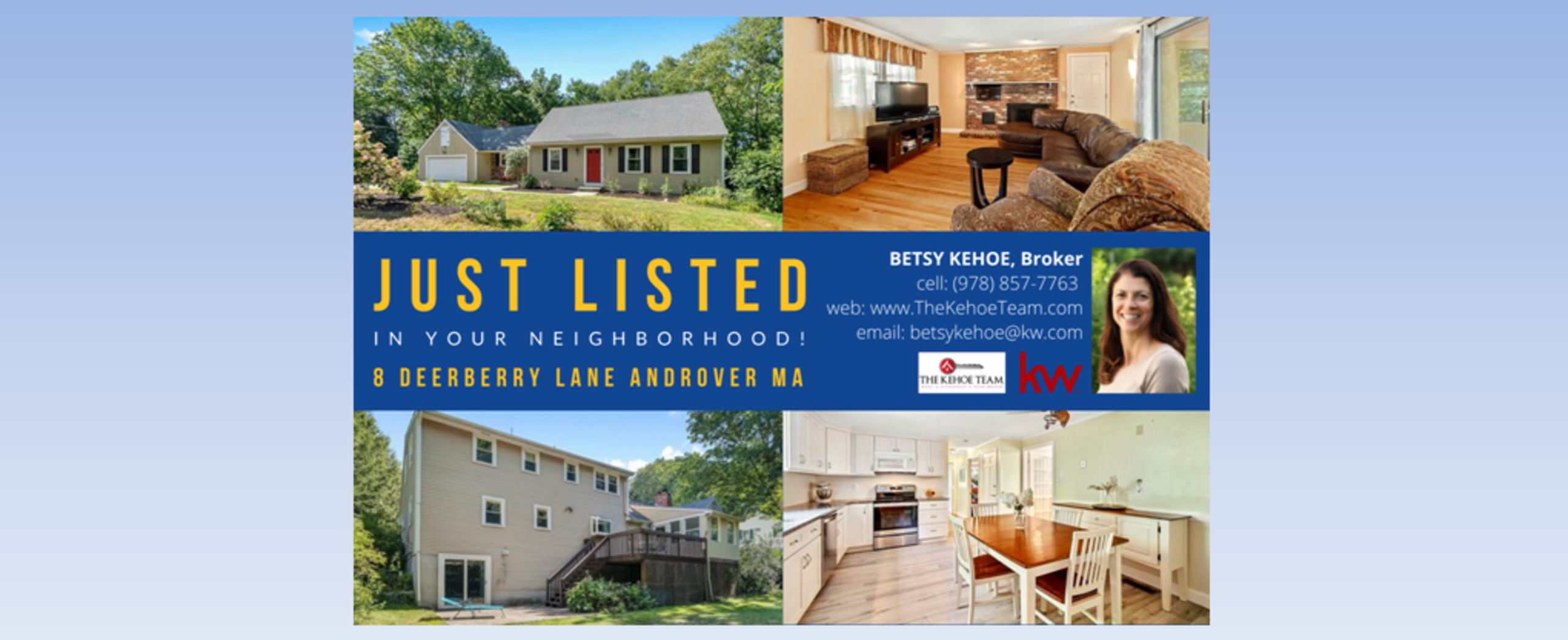 JUST LISTED - 8 DEERBERRY LANE ANDOVER MA 01810