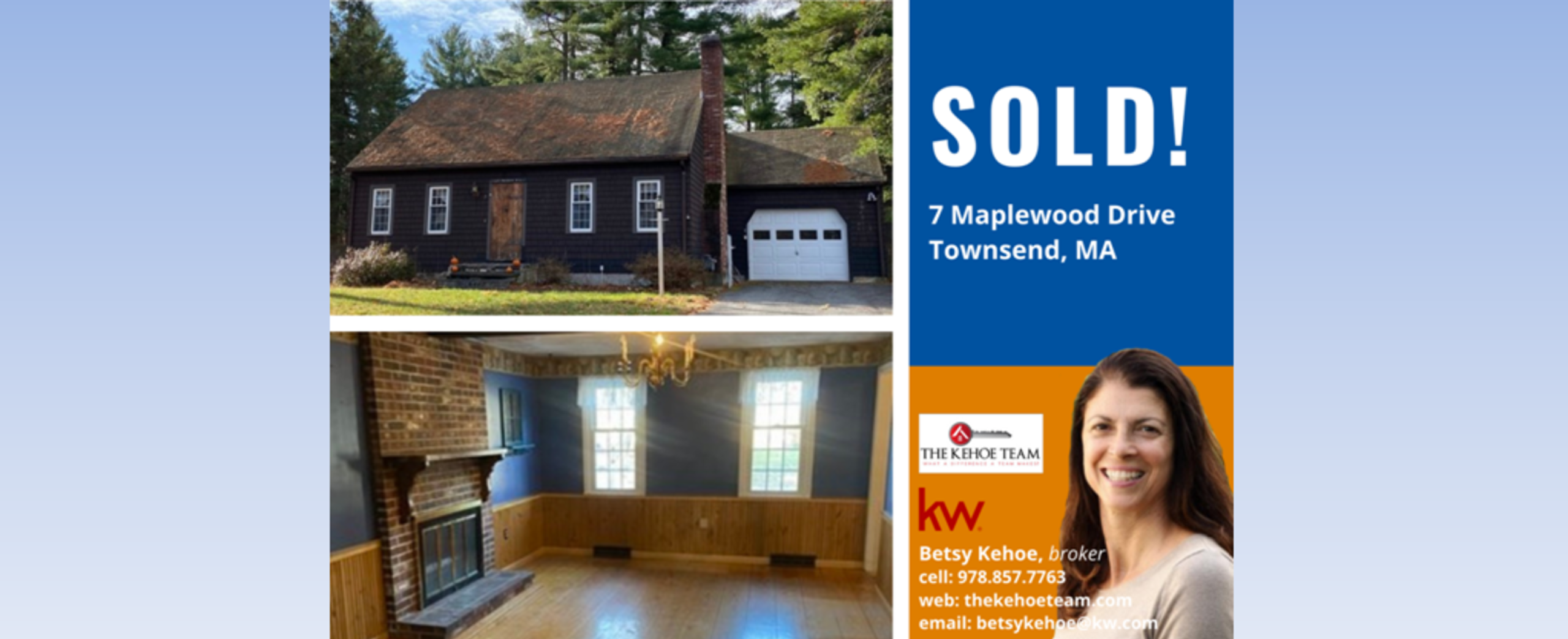 SOLD! - 7 MAPLEWOOD DRIVE TOWNSEND MA