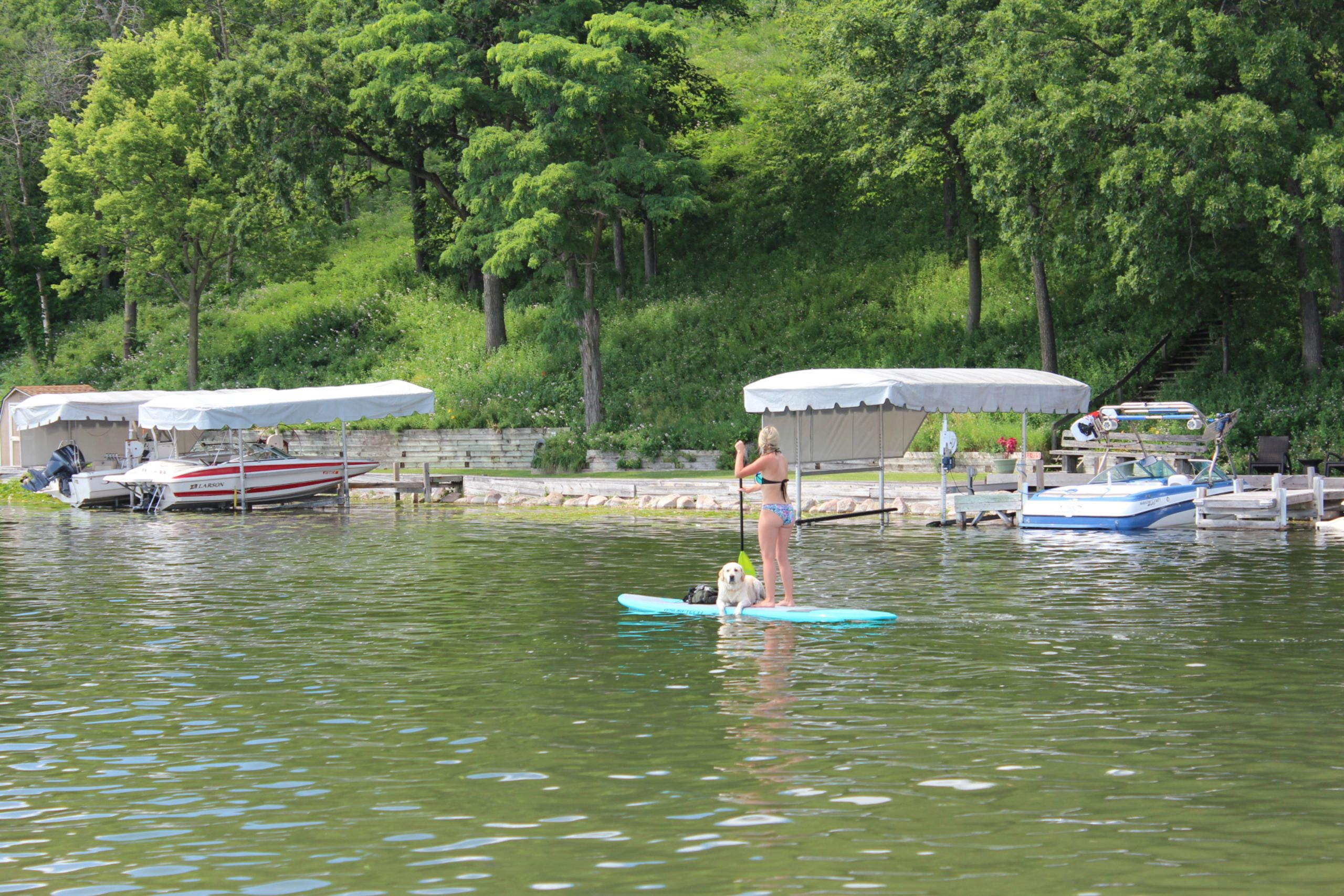 PADDLE BOARDING ON LAUDERDALE LAKE