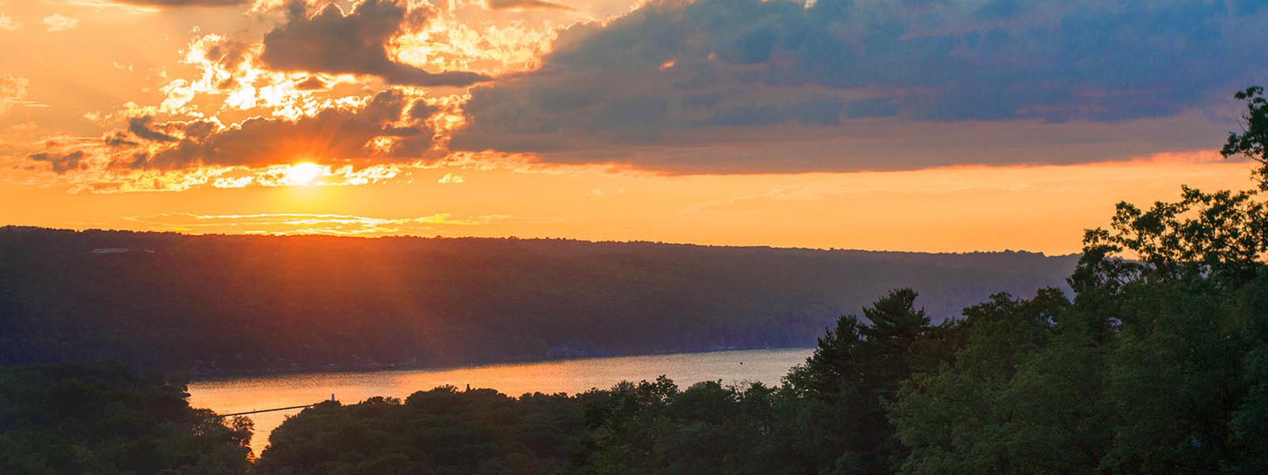 Cayuga Lake at Sunset