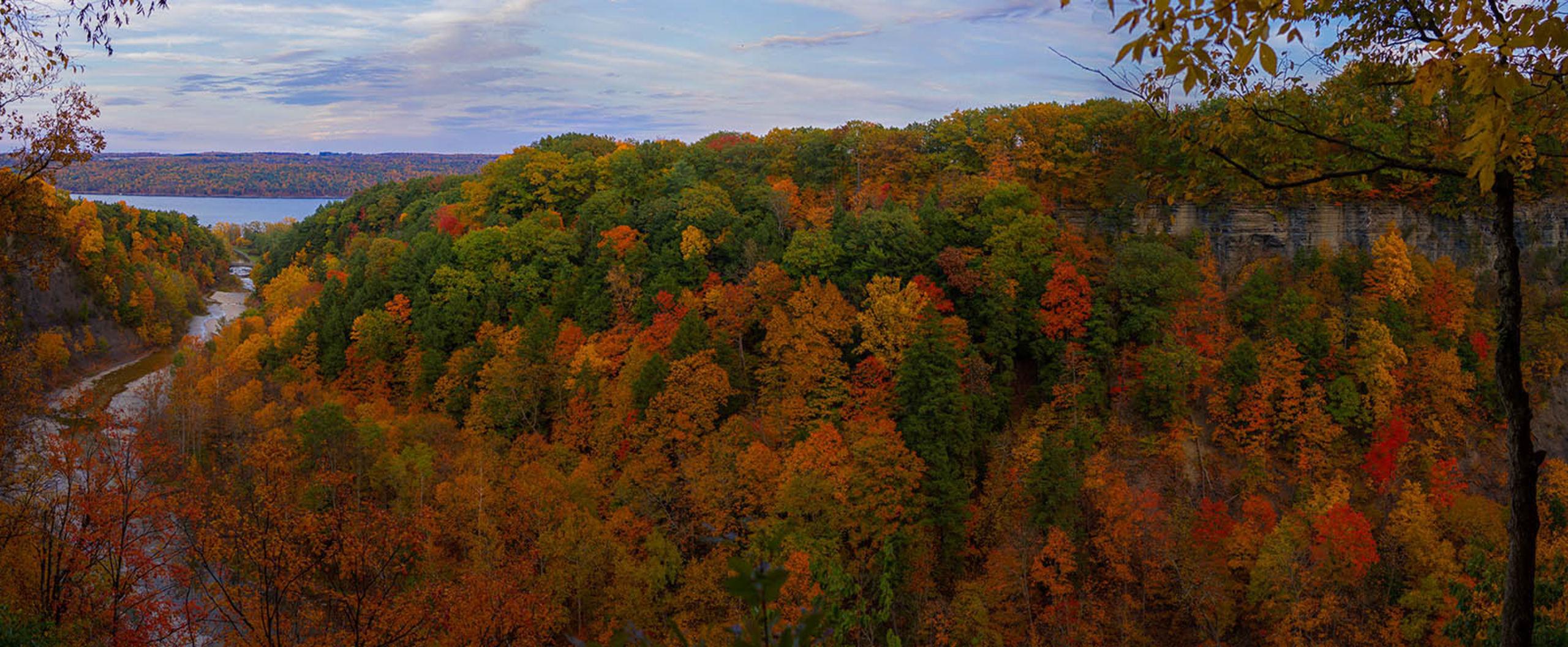 Taughannock Gorge in Autumn